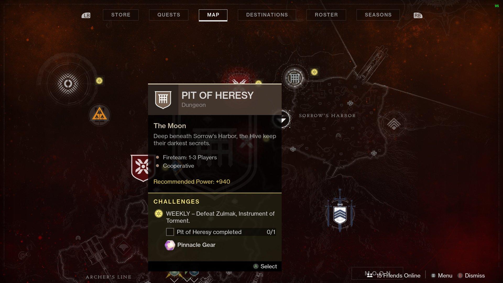 Destiny 2 start Pit of Heresy