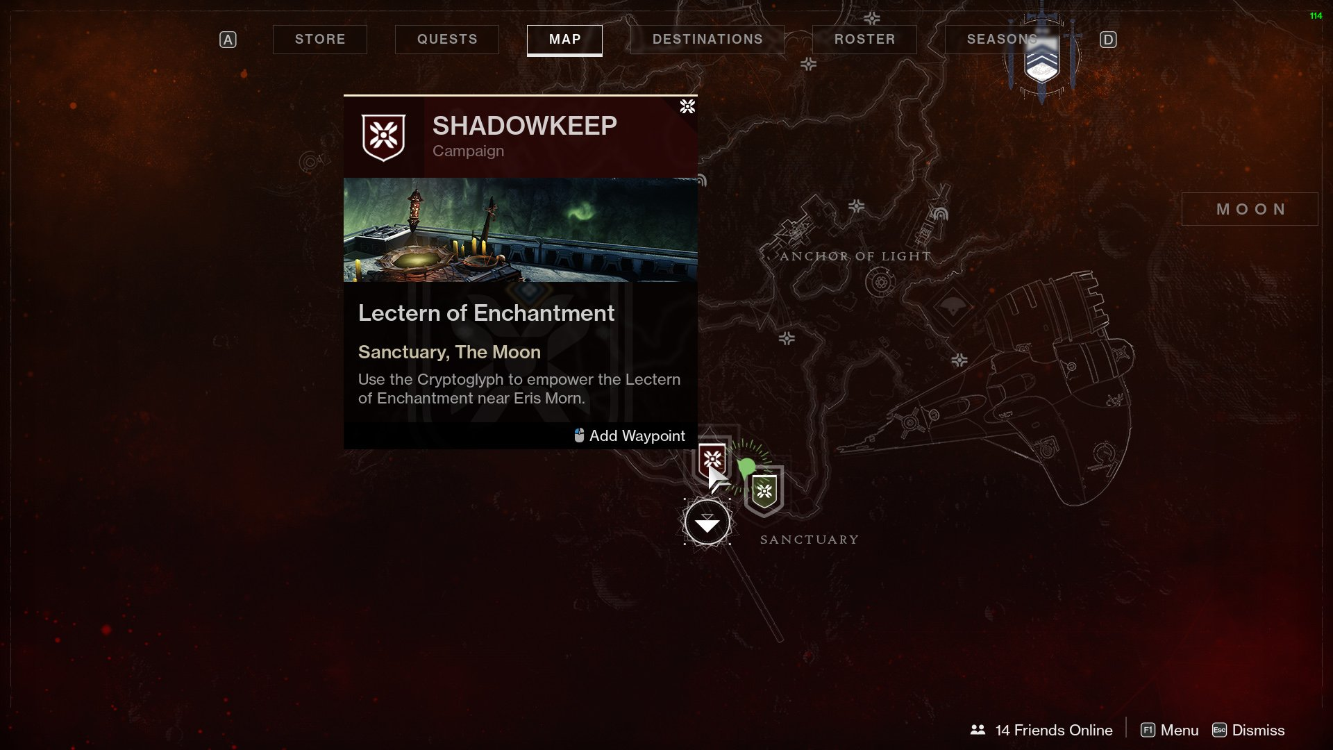 Destiny 2 unlock lectern of enchantment
