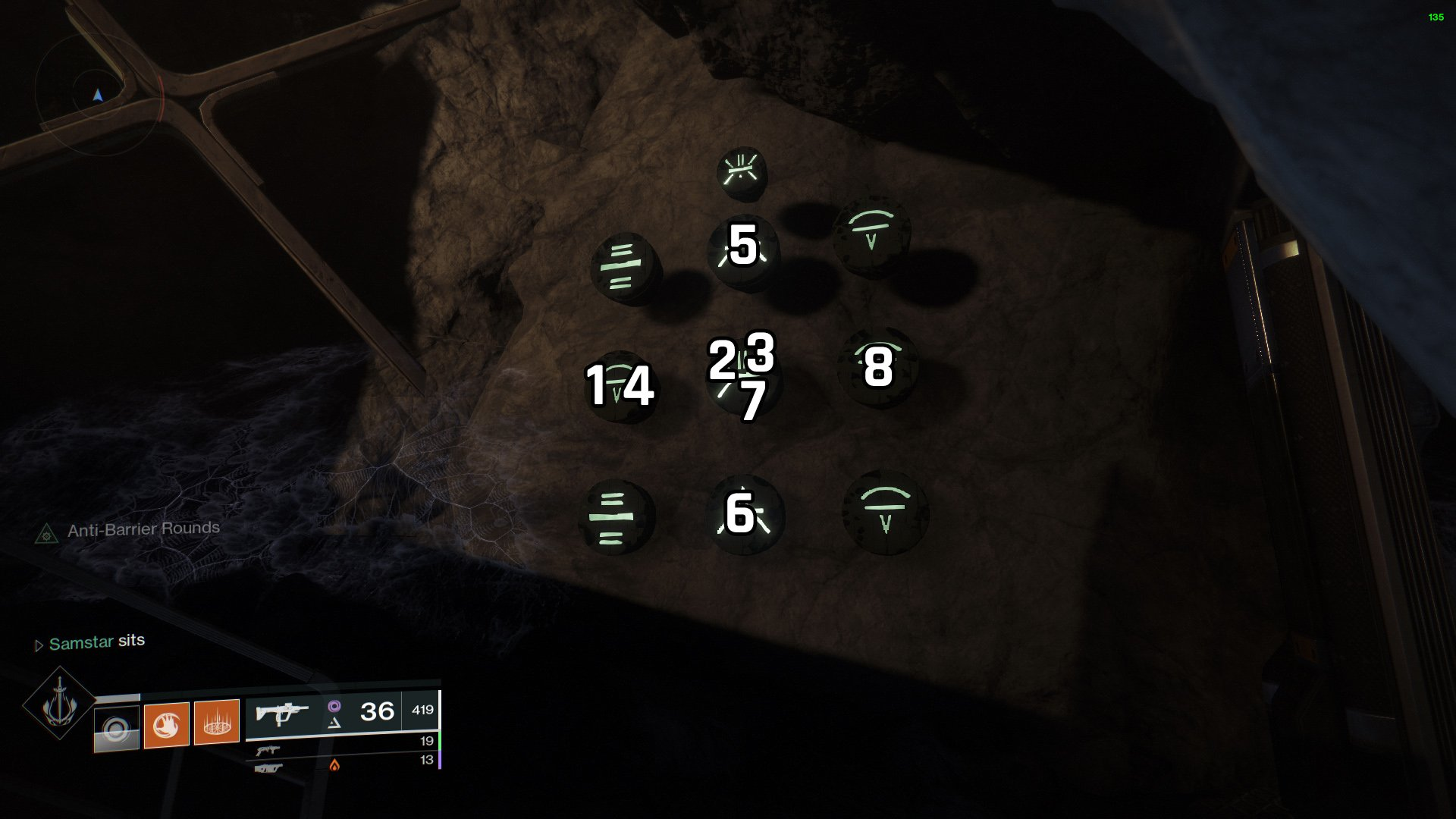 Destiny 2 Lost Sector puzzle K1 Revelation