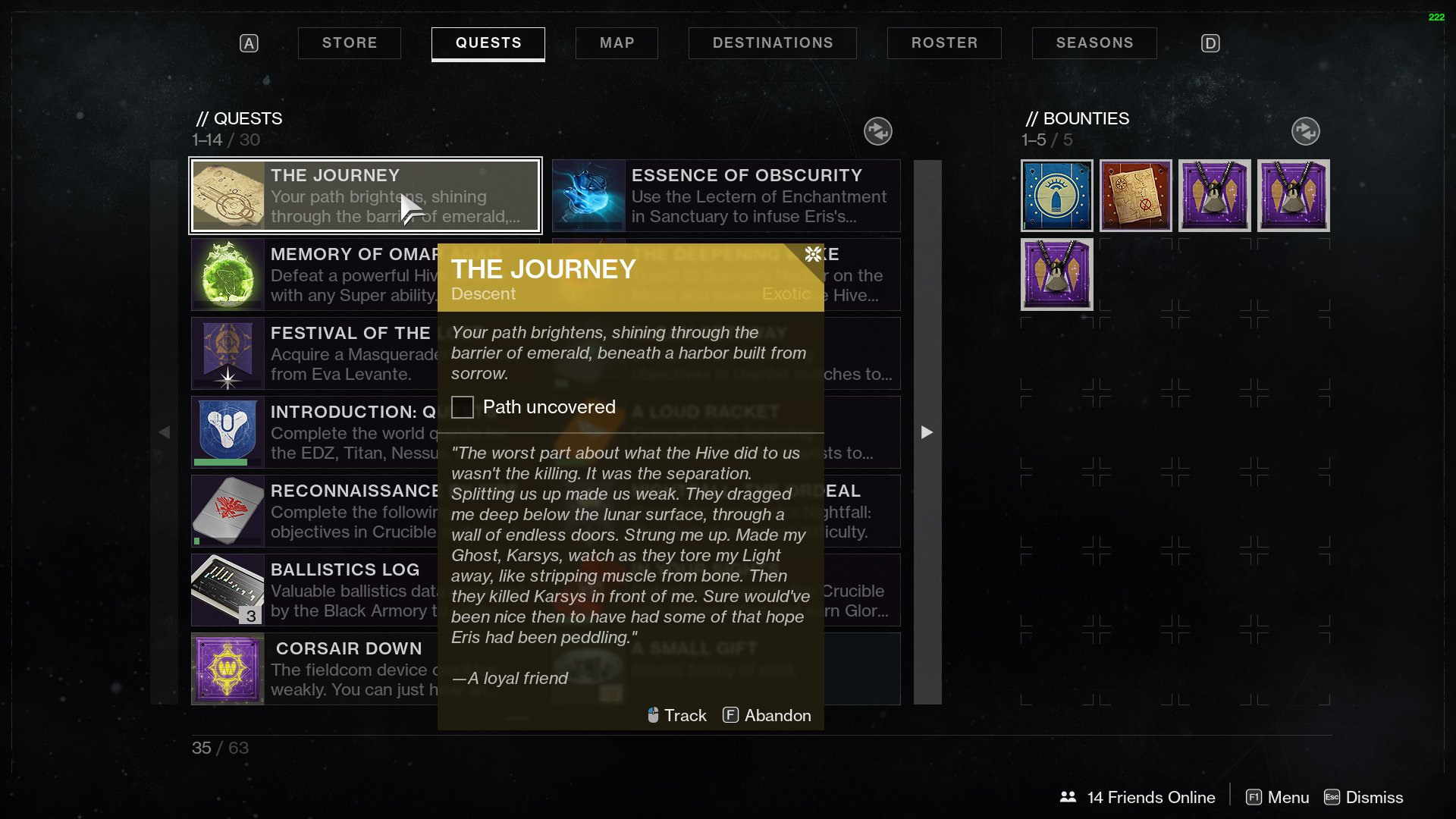 Destiny 2 The Journey Descent