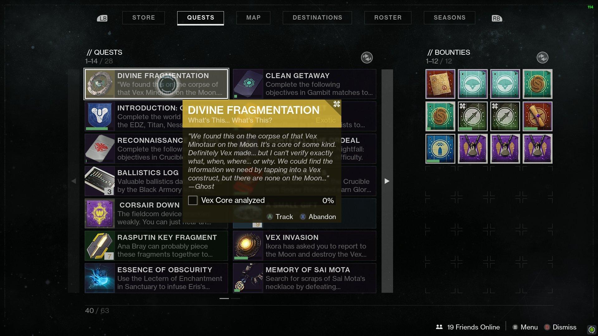 Divine Fragmentation Vex Cores Analyzed Destiny 2