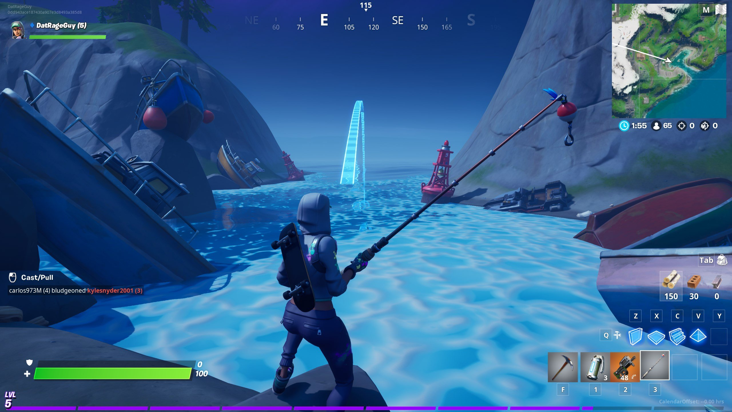 how to fish in Fortnite