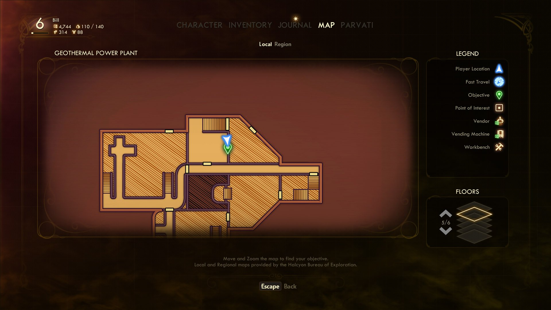 geothermal security chief keycard location the outer worlds