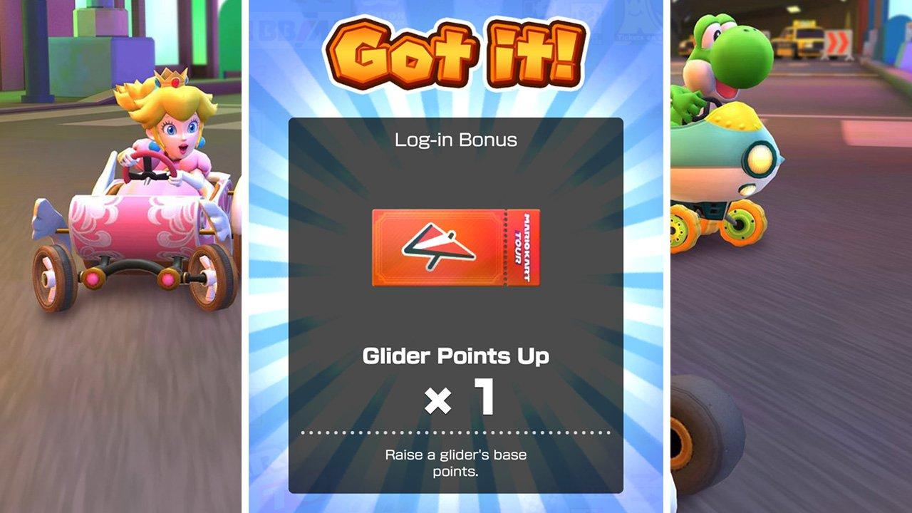 Mario Kart Tour - Glider Points Up Ticket