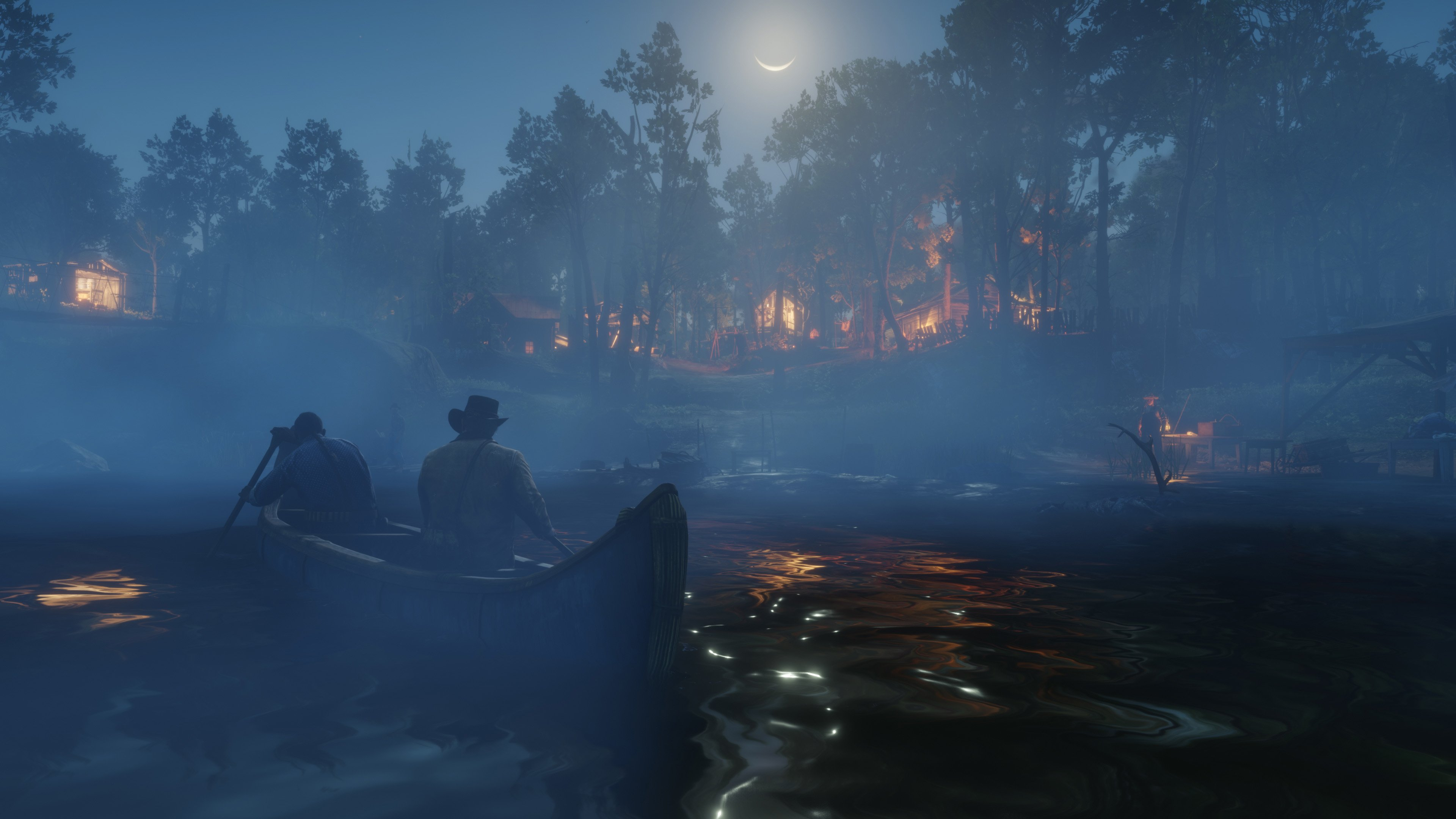 RDR2 - on the lake at night