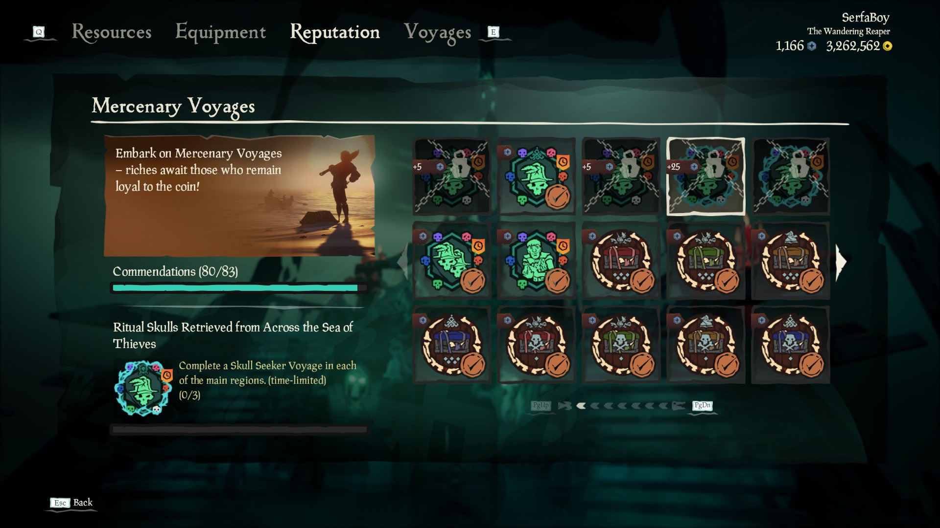 Sea of Thieves mercenary voyages doubloons