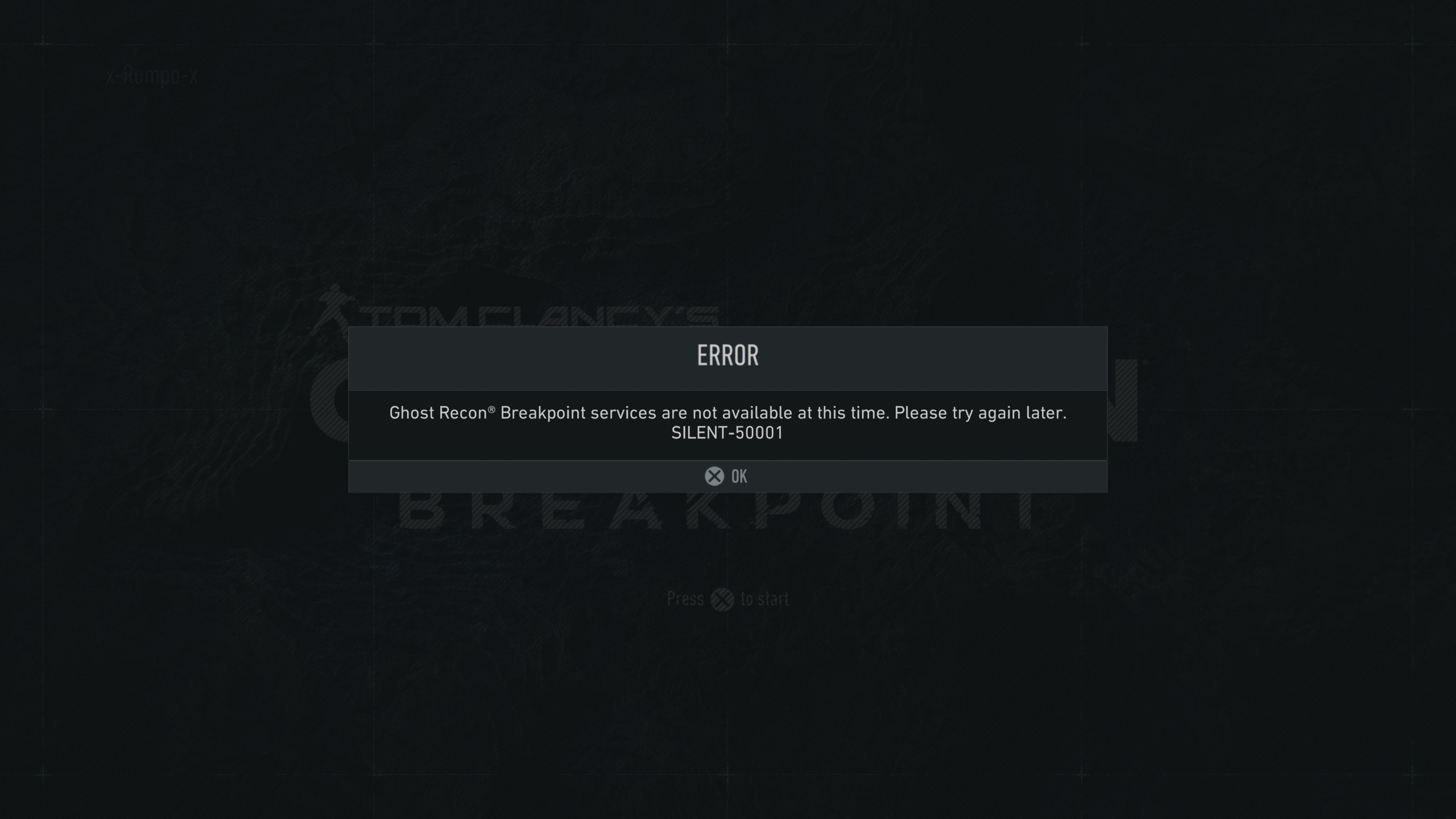 SILENT-5000 Error Ghost Recon Breakpoint