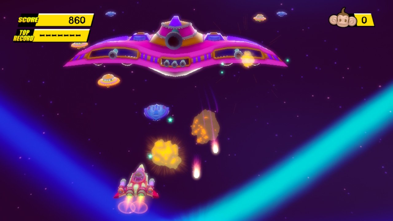 Space ships in Monkey Ball?