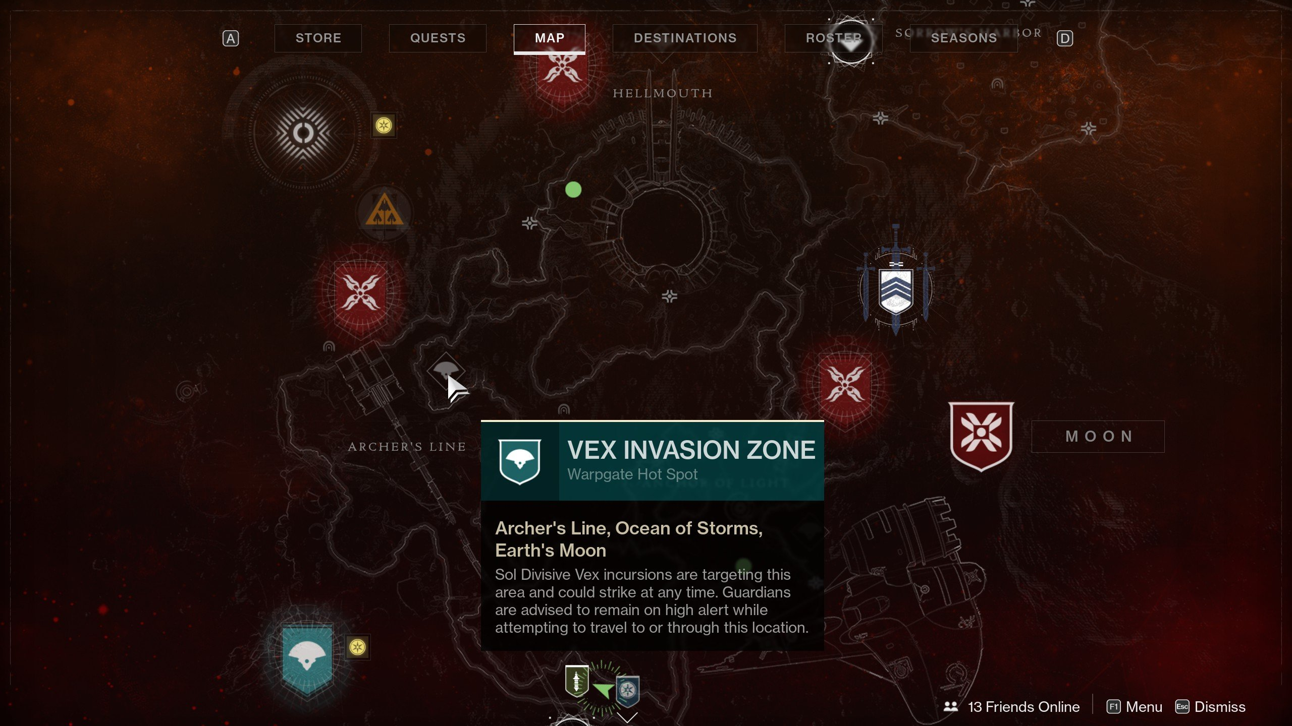 Vex Invasion Zones Destiny 2