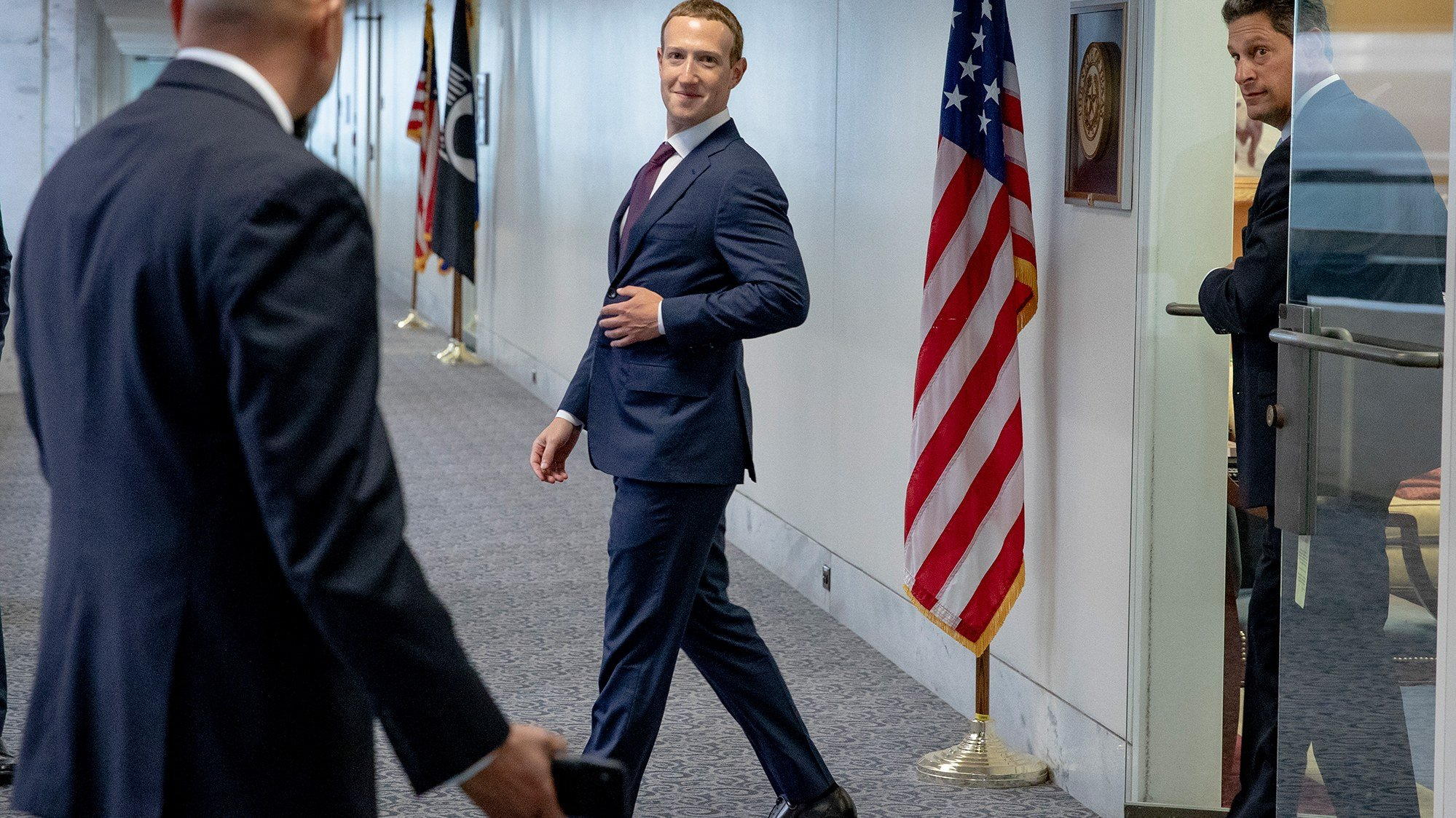 Facebook CEO Mark Zuckerberg seen here wearing a human suit.