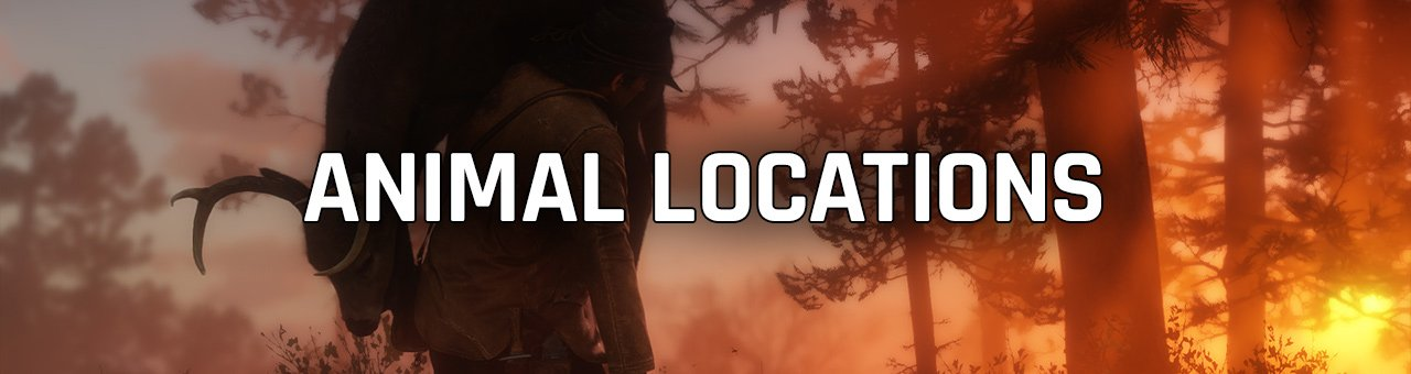 Red Dead Redemption 2 animal locations guides