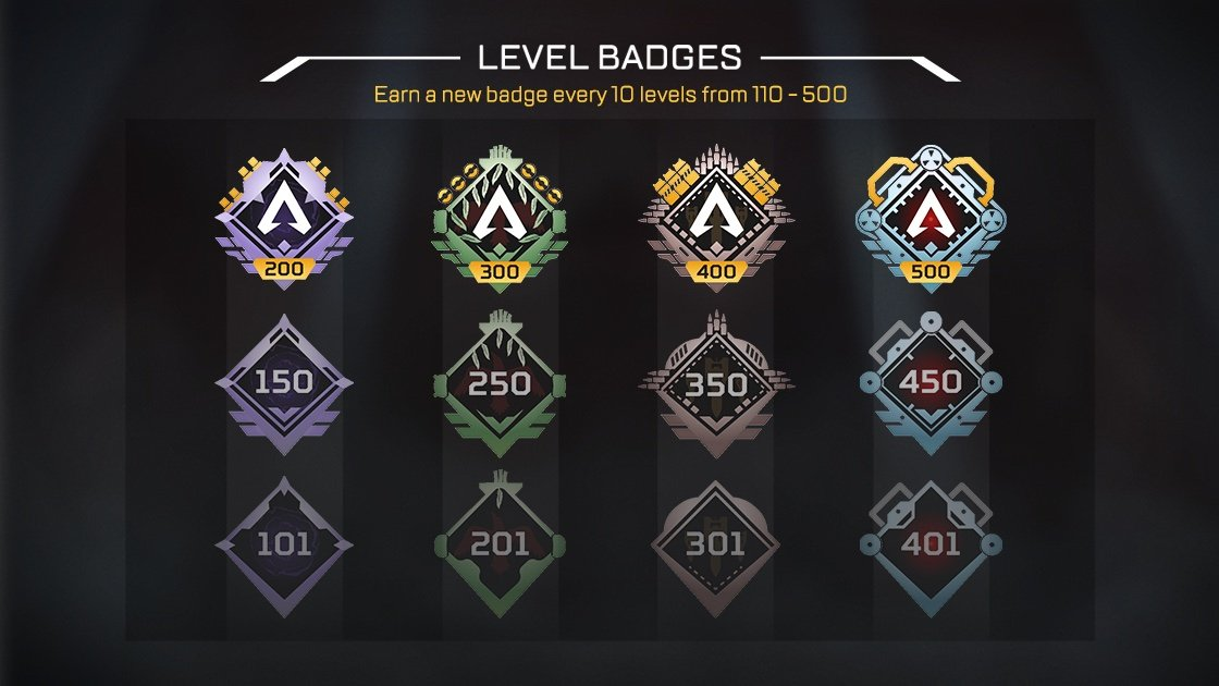 Apex Legends level cap 500