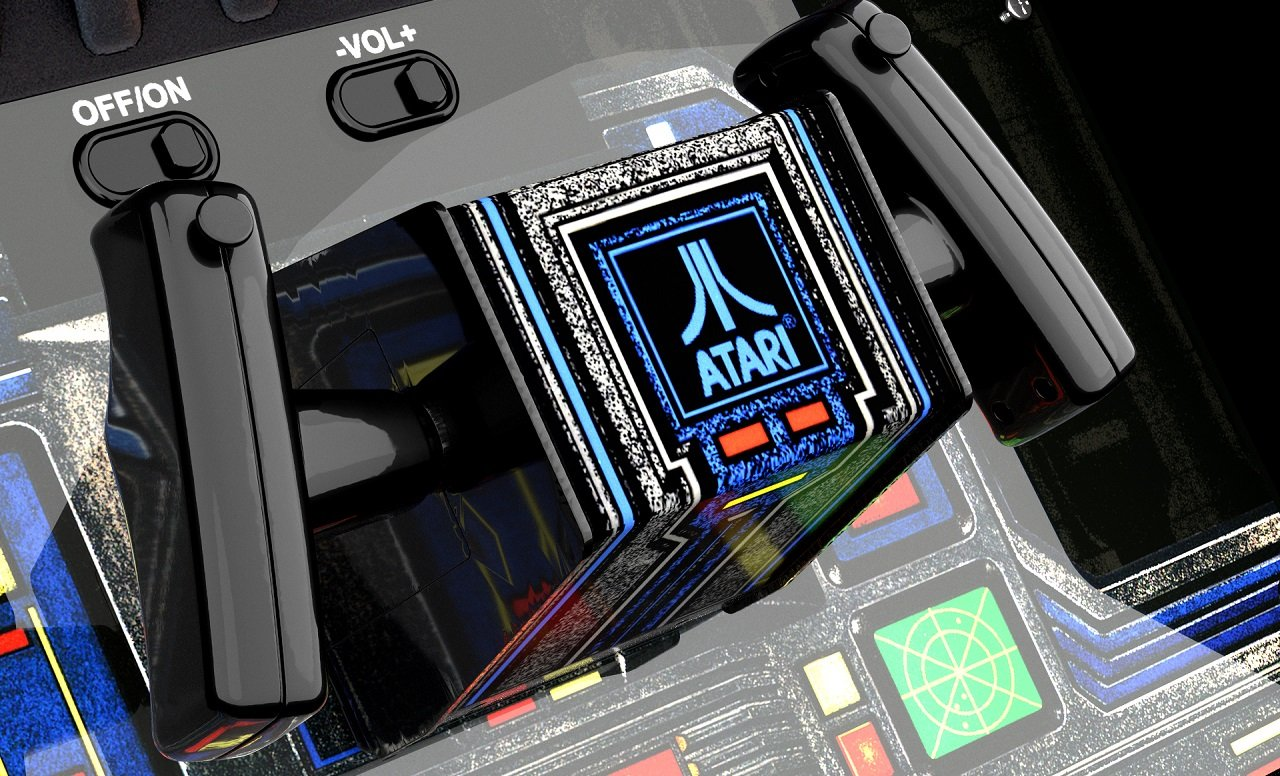 The controls on the Arcade1Up Star Wars cabinet aren't the metal of the original, but the sturdy materials they're made out of make for an extremely close weight and feel.