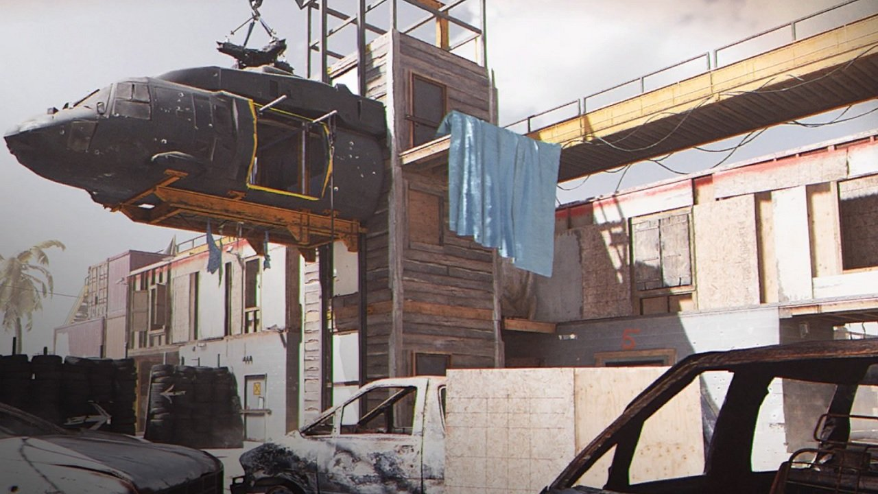 Call of Duty Modern Warfare update 1.07 prominently features two new maps. Shoot house is a maze of concrete and junkyards that makes for a ton of fun.