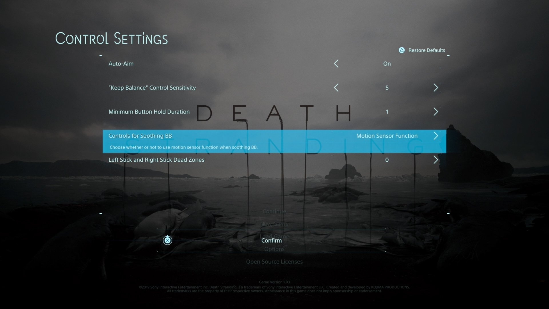 Death Stranding - Motion Controls
