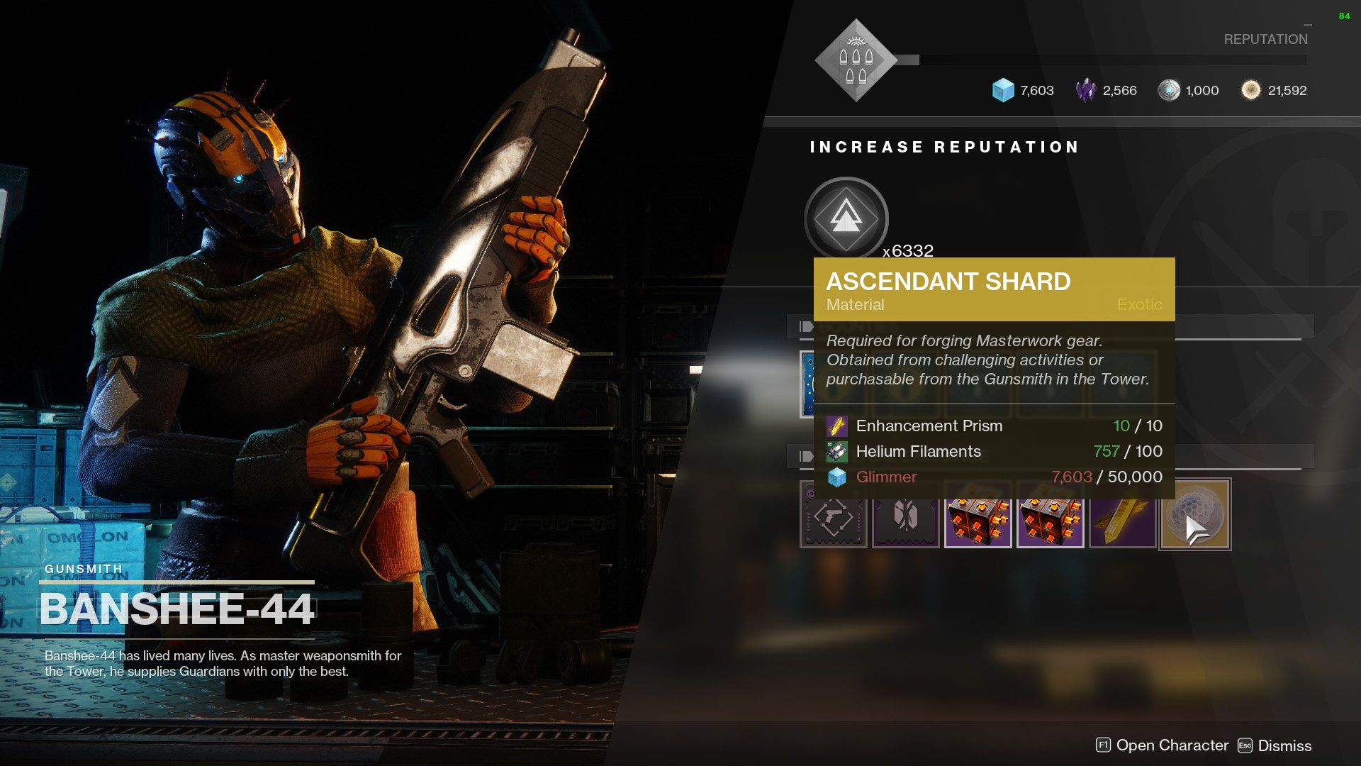 destiny 2 ascendant shard the gunsmith