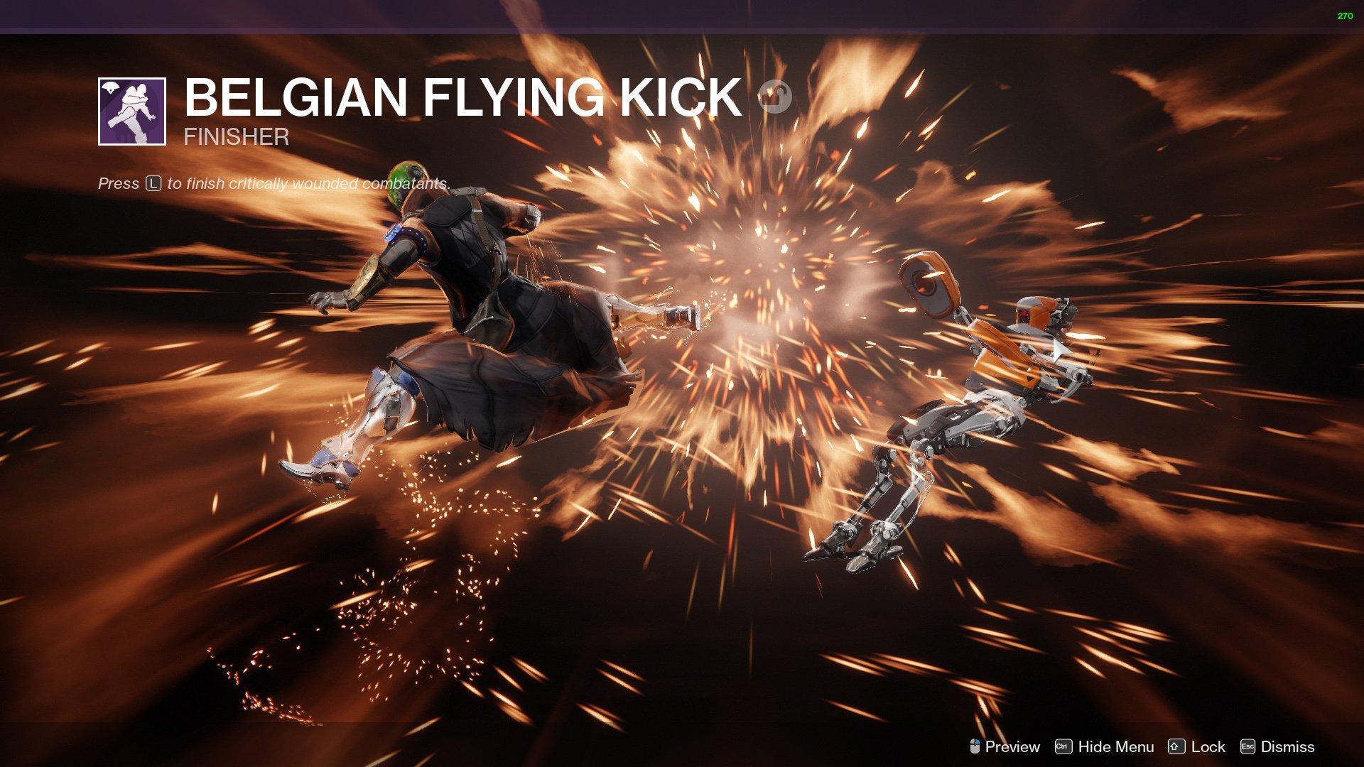 Destiny 2 Finisher Belgian Flying Kick