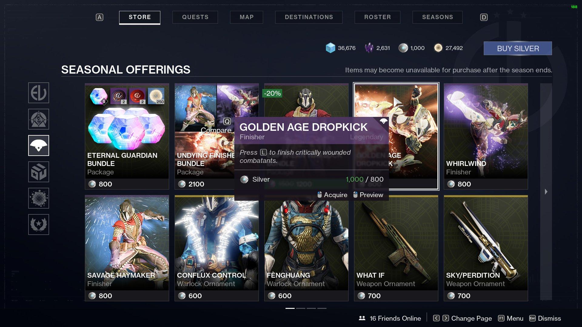 Destiny 2 Finisher Golden Age Dropkick