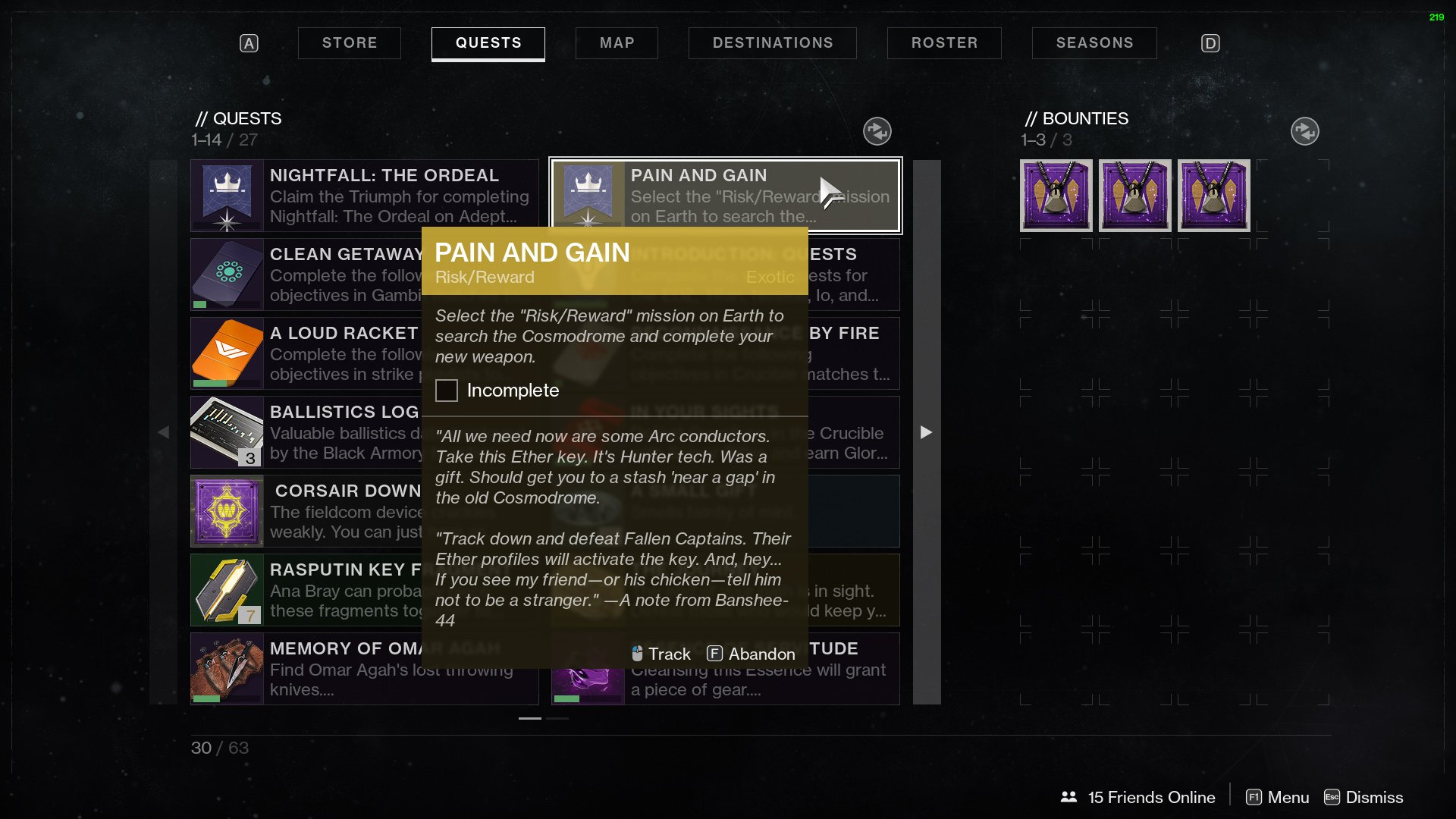 destiny 2 pain and gain risk reward