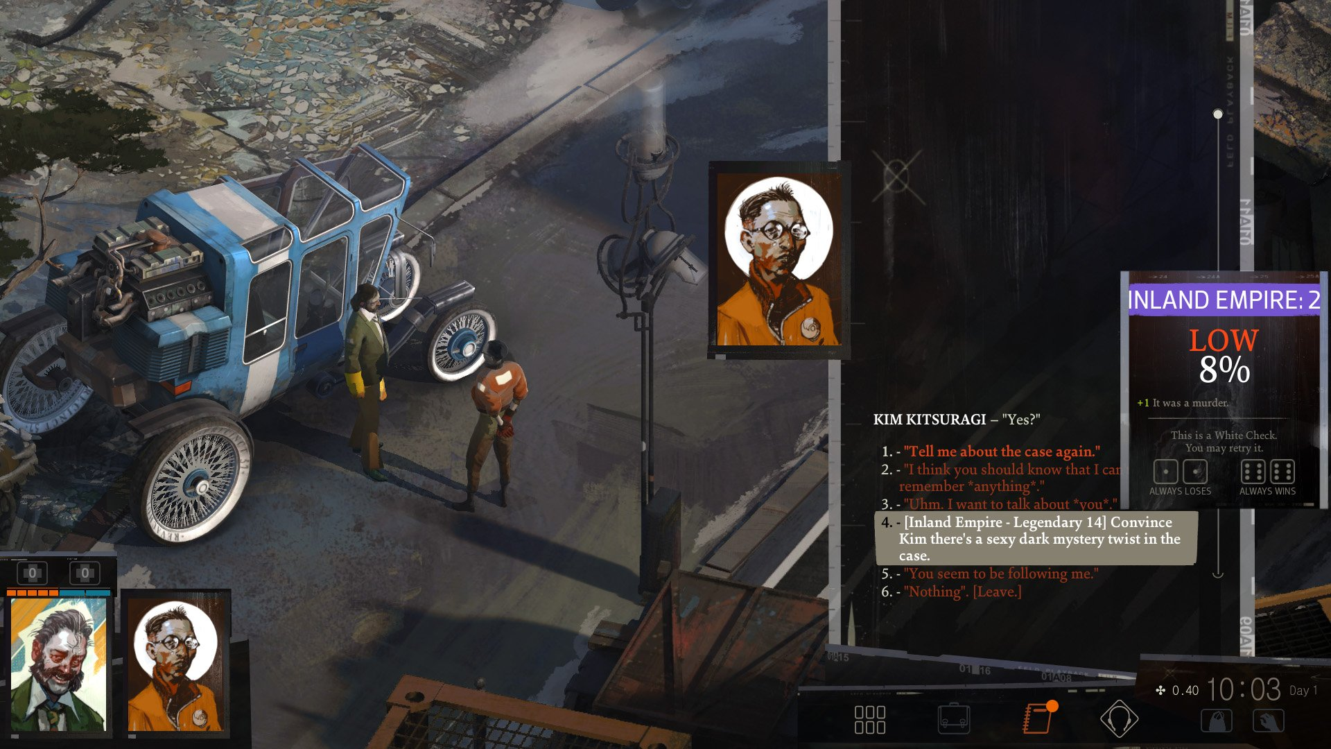 disco elysium the shakespearean boss fight