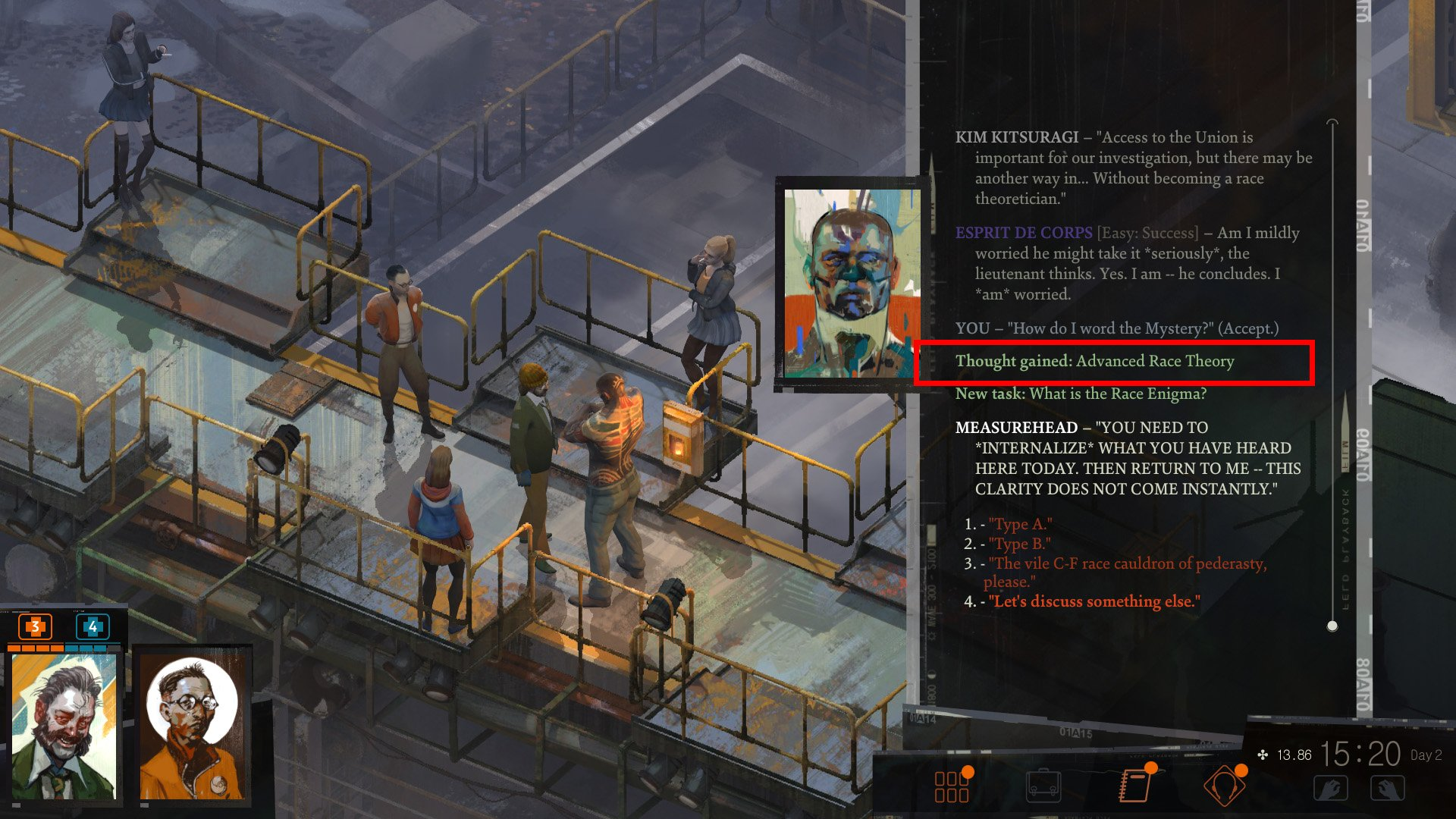 Disco Elysium unlock new thoughts