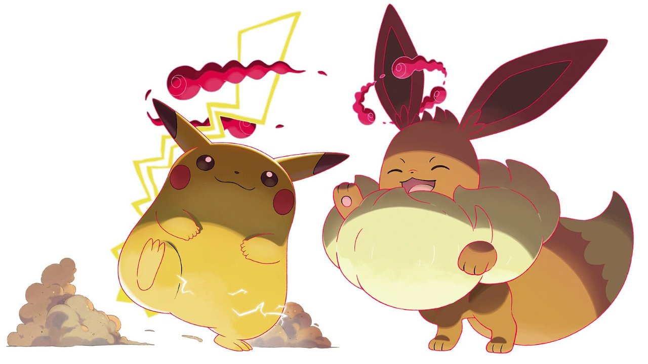 Gigantamax Eevee and Pikachu