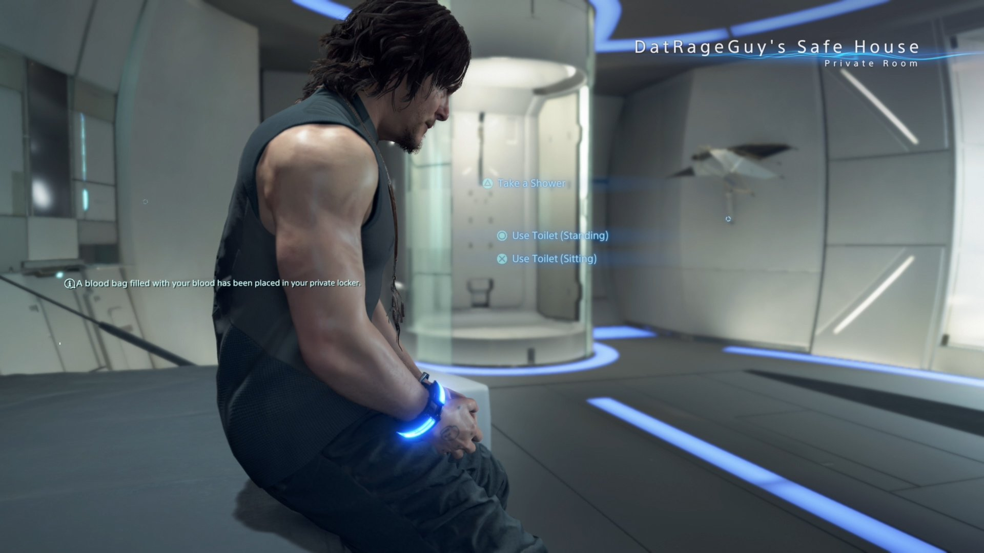 Death Stranding - how to pee in private room
