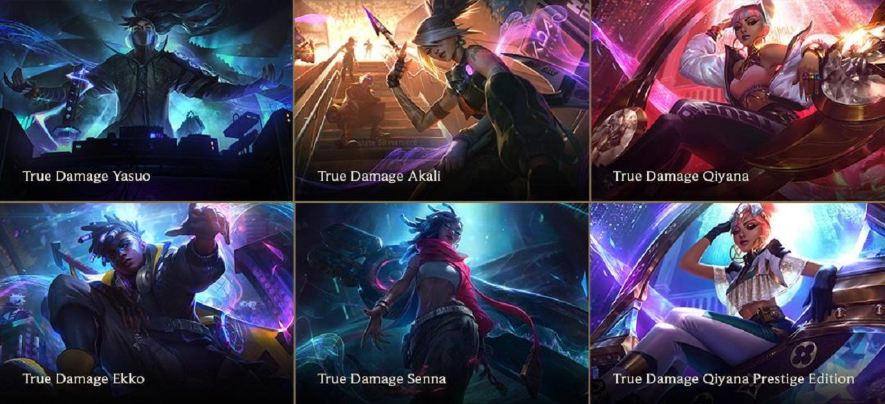 The True Damage skins take the hip hop aesthetic of the K/DA set to the next level with an all-new cast of champions.