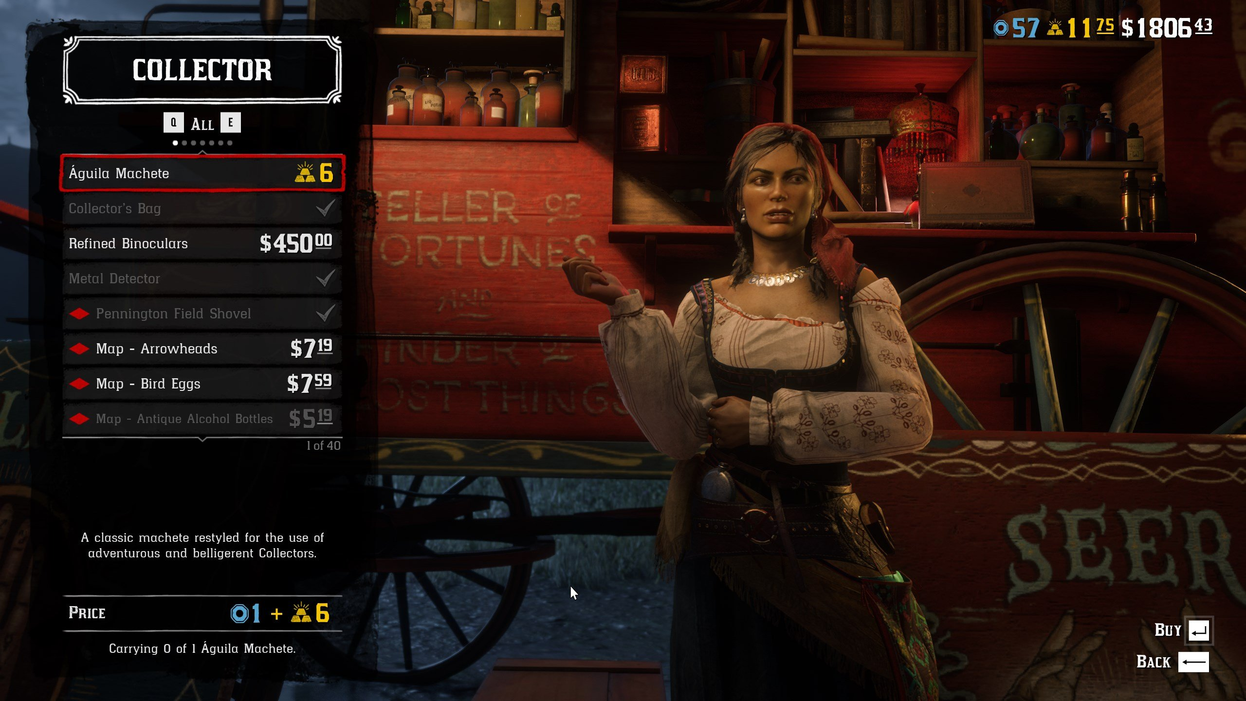Madam Nazar Wares - Red Dead Online