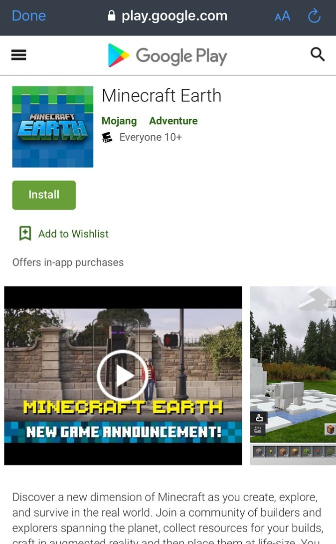Whether on Android or iOS, you'll be able to download Minecraft Earth easily from their respective app pages. Just make sure you have your app store and Microsoft Account logins ready to go.