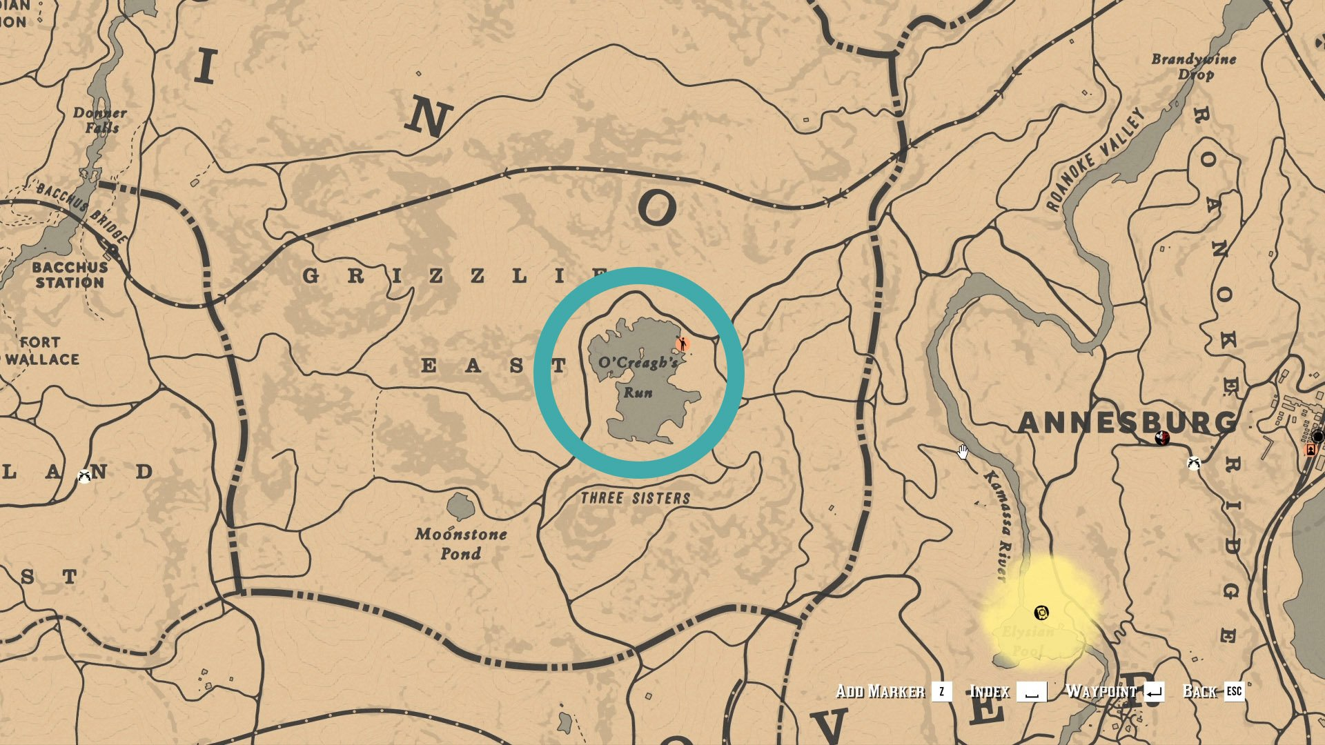 Red Dead Online - O'Creagh's Run Rock Bass location