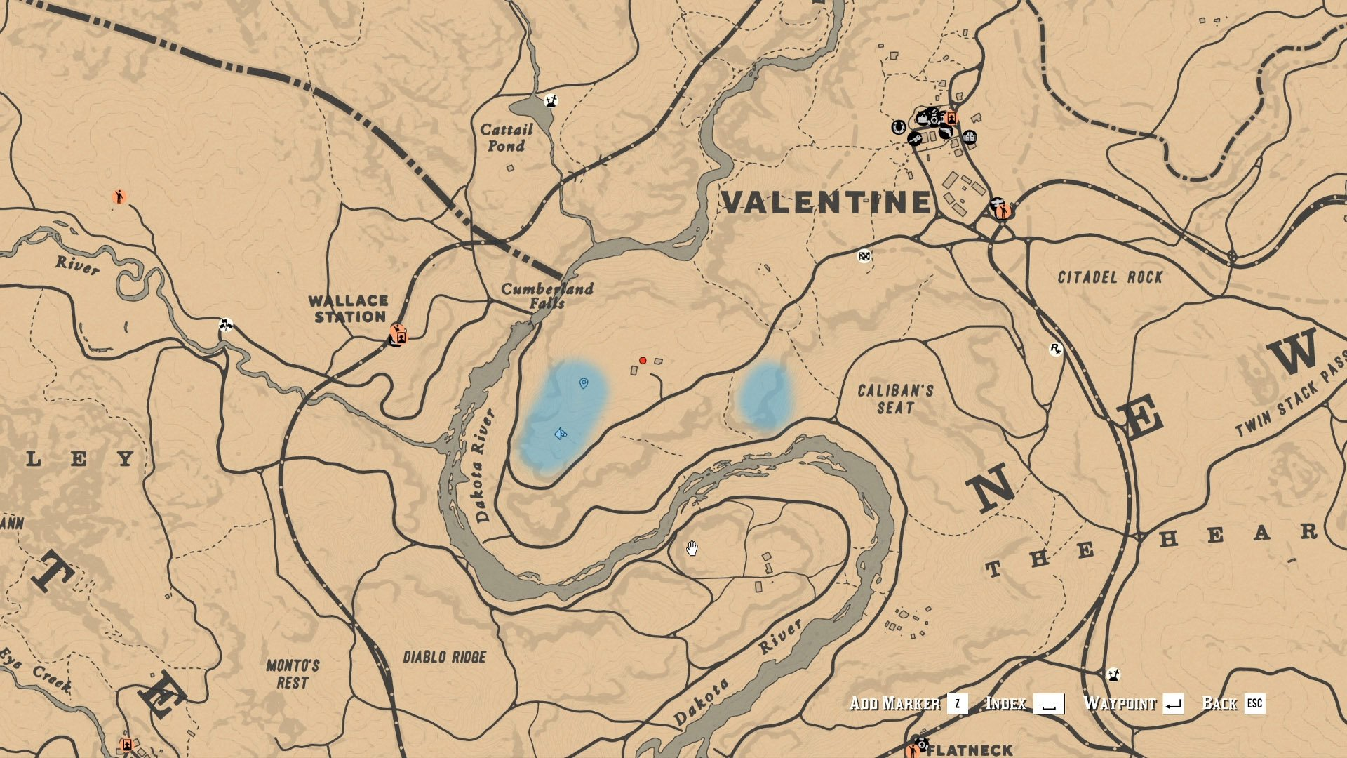 Red Dead Online - Blackberry locations map