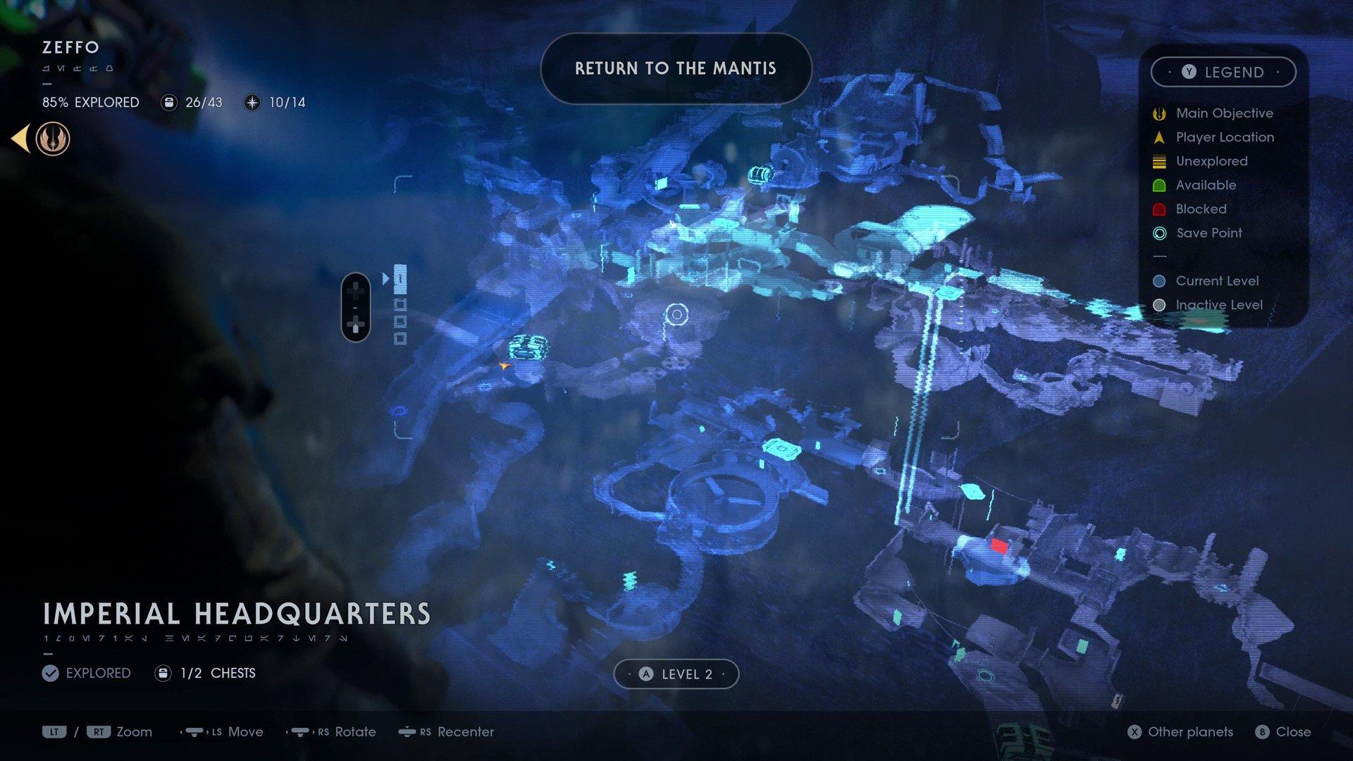 Star Wars Jedi Fallen Order map