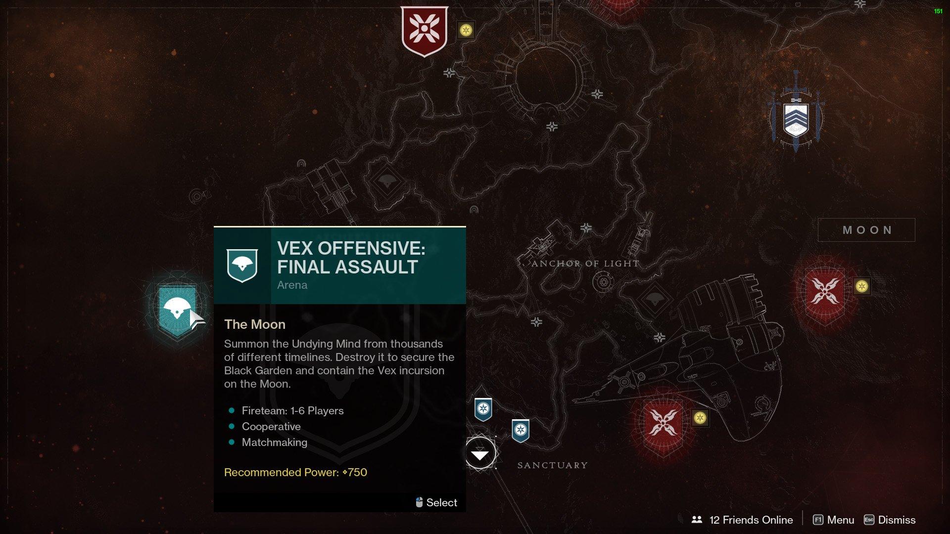 start vex offensive final assault destiny 2