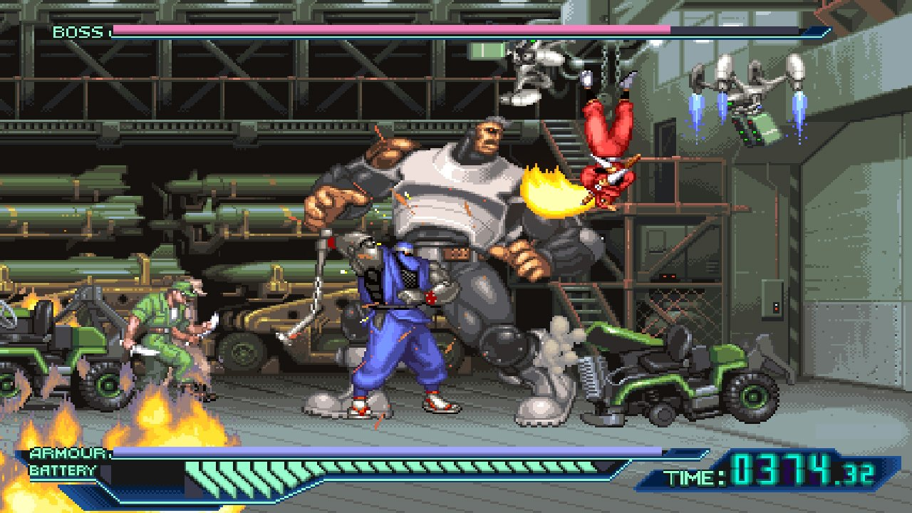 The Ninja Saviors: Return of the Warriors features classic arcade beat'em-up action.