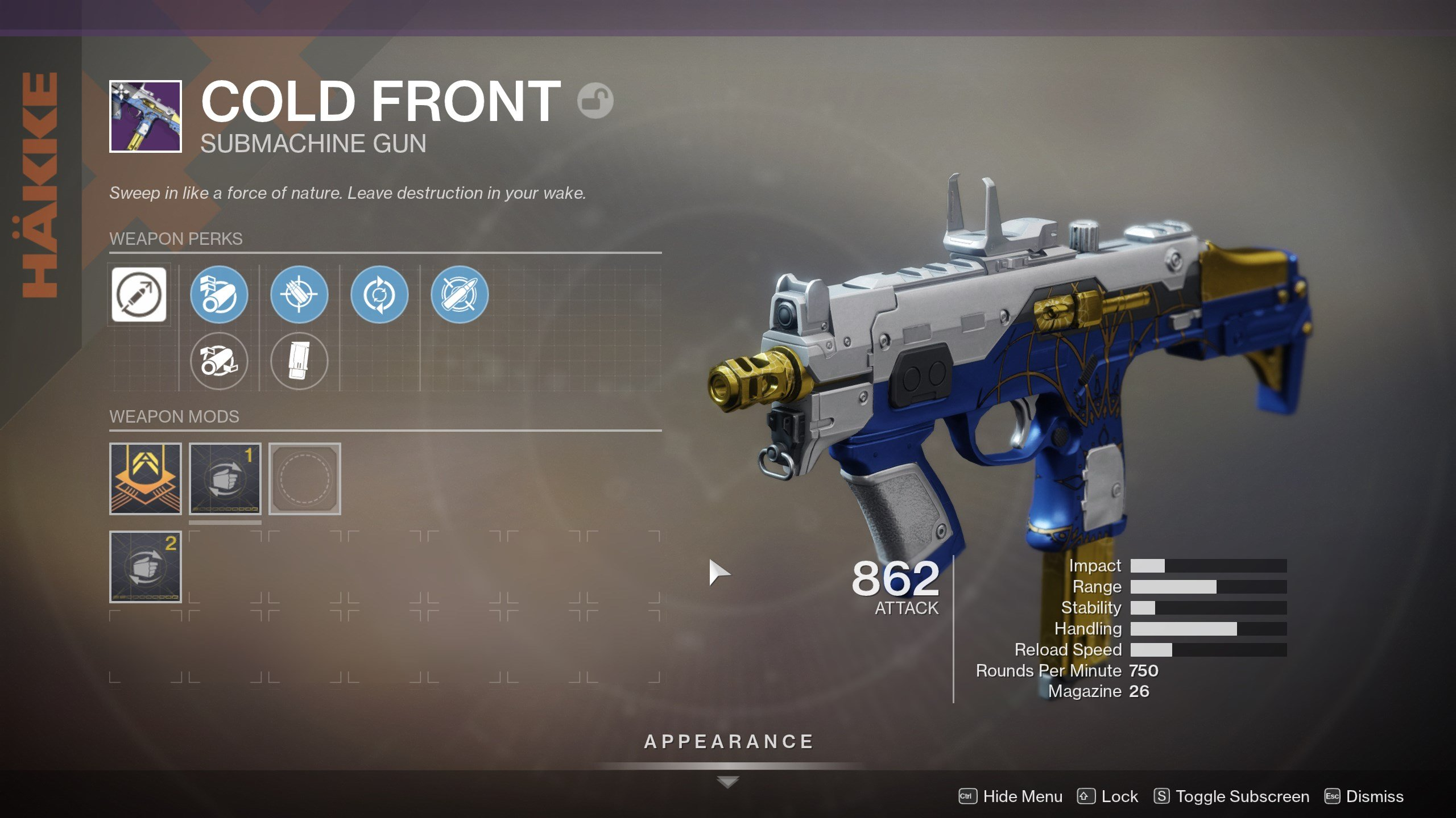 Destiny 2 - Cold Front SMG