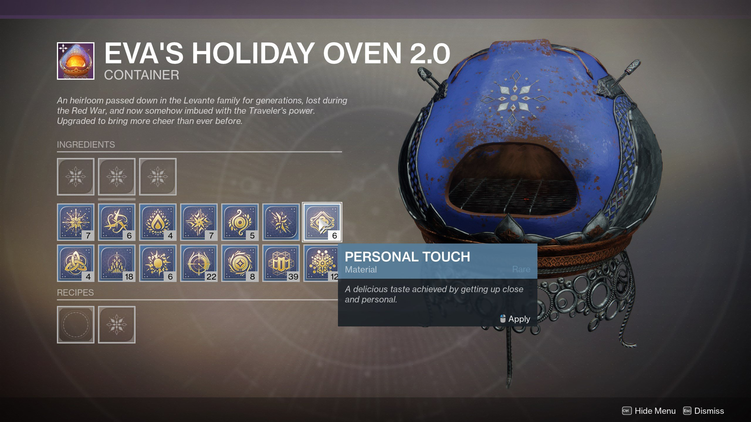 Personal Touch - Destiny 2
