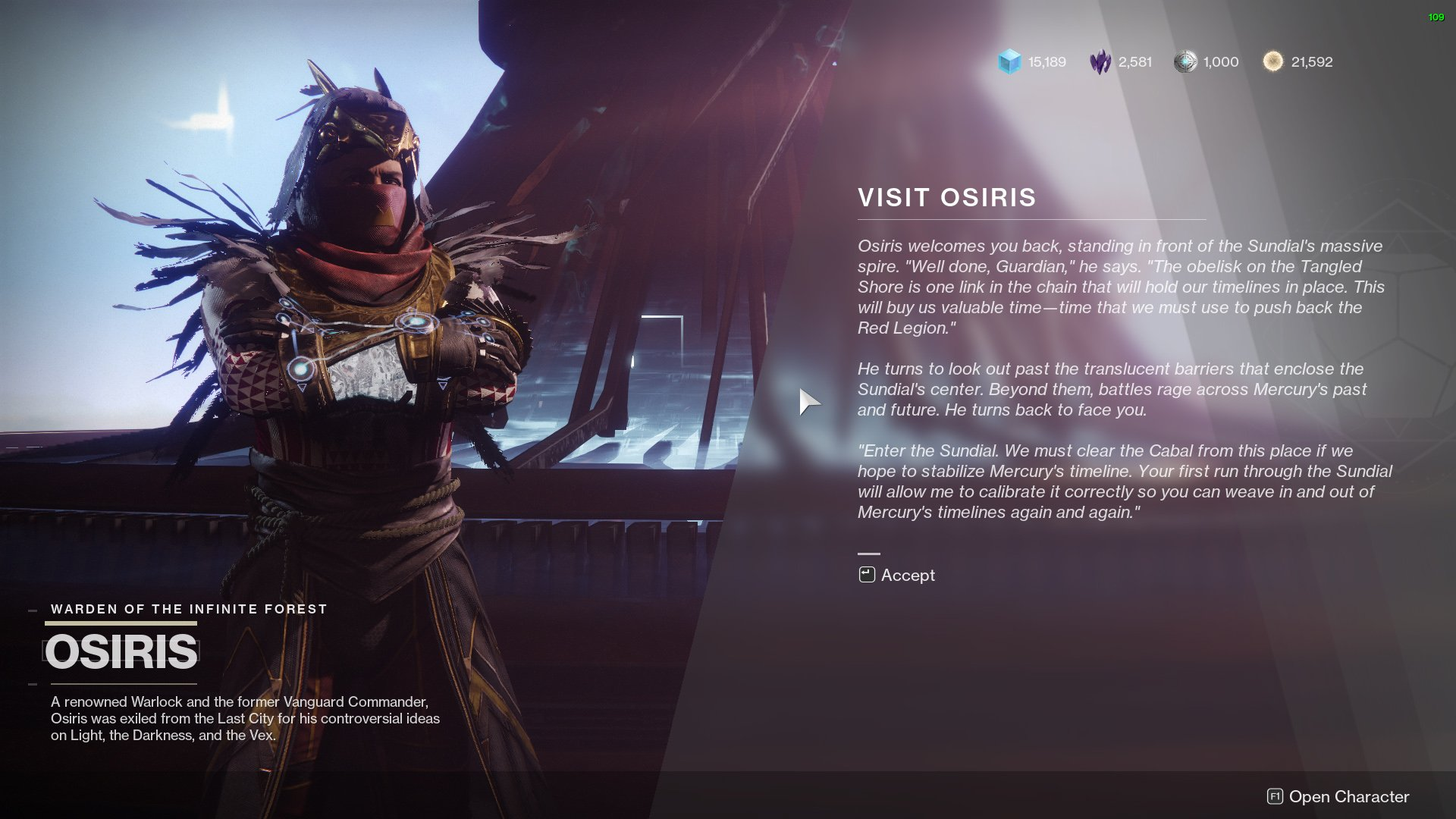 Destiny 2 visit osiris season of dawn
