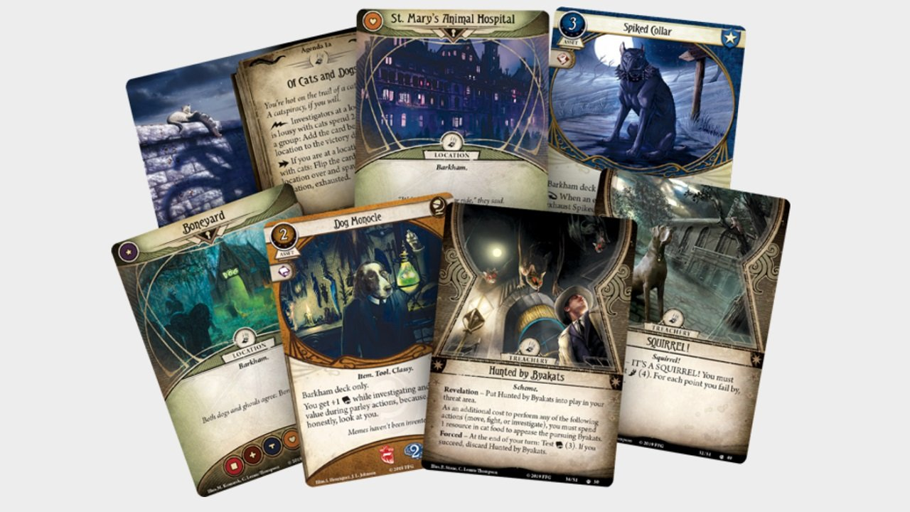 Barkham Horror keeps the regular elements of Arkham Horror, just playfully warped into a canine/feline conspiracy.