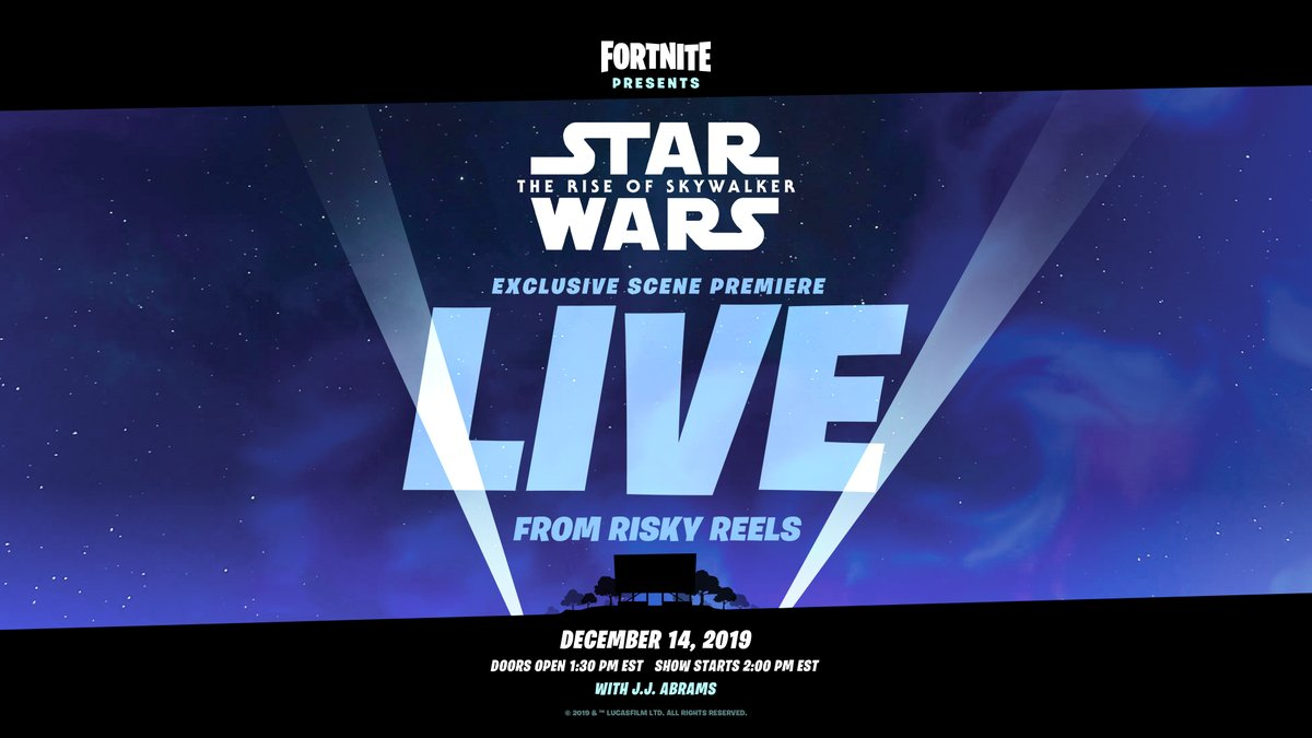 Fortnite and Star Wars will cross lightsabers this weekend.