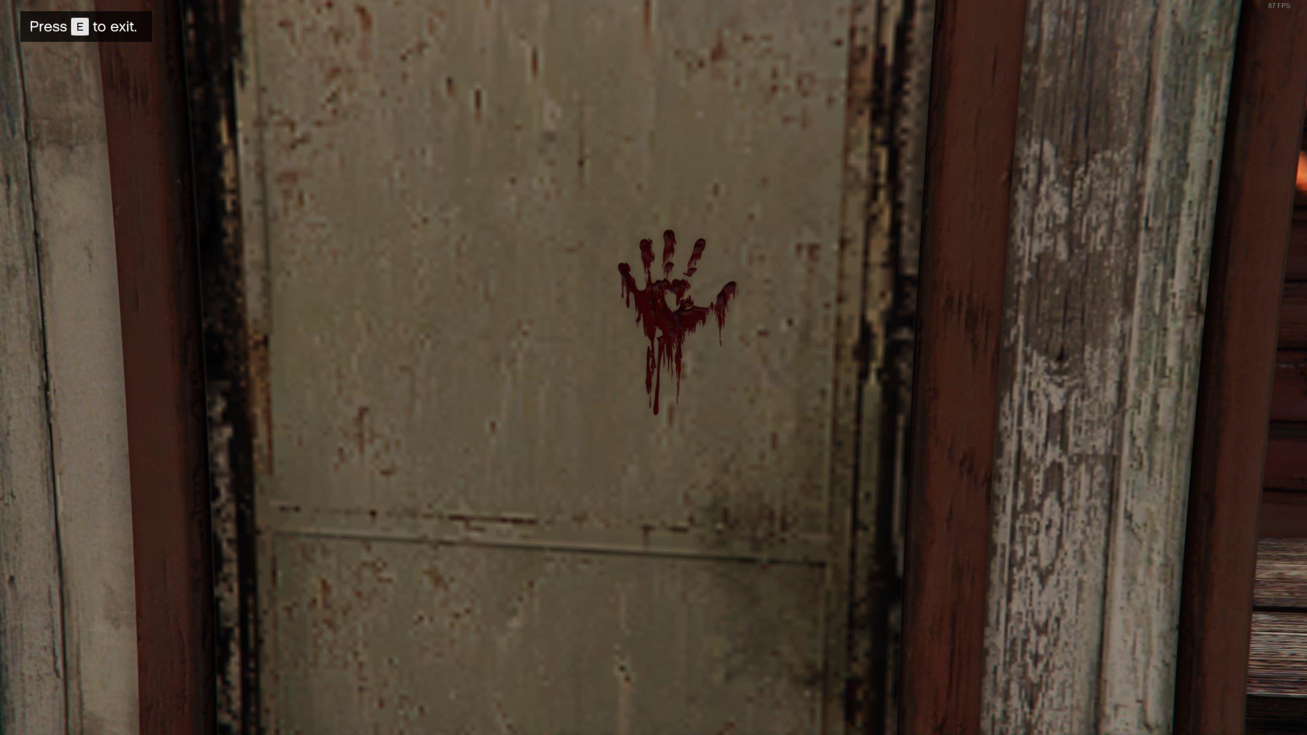 Slasher Clue 1 - Bloody Handprint - GTAO