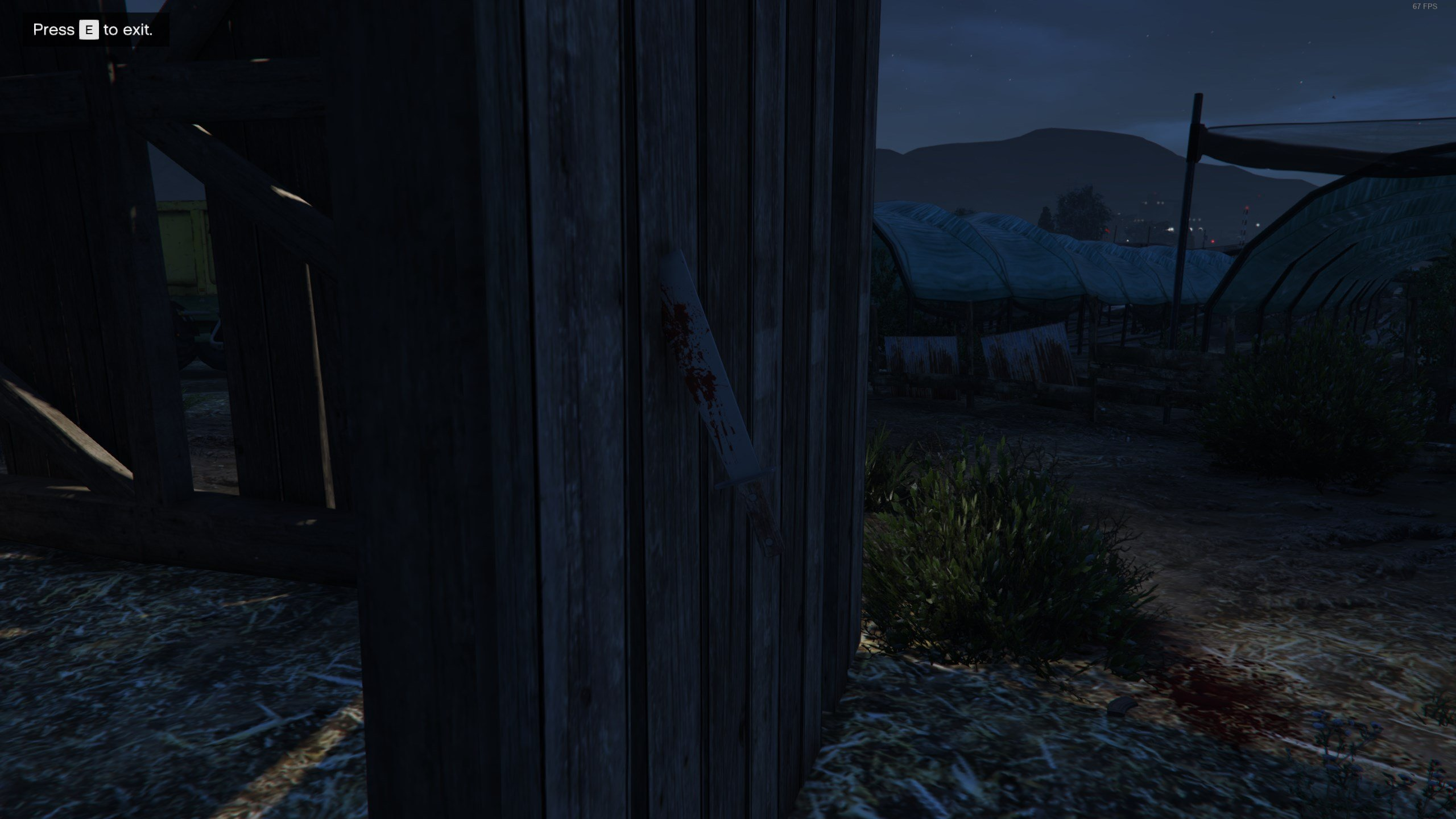 Slasher clue 2 - Machete in barn - GTAO