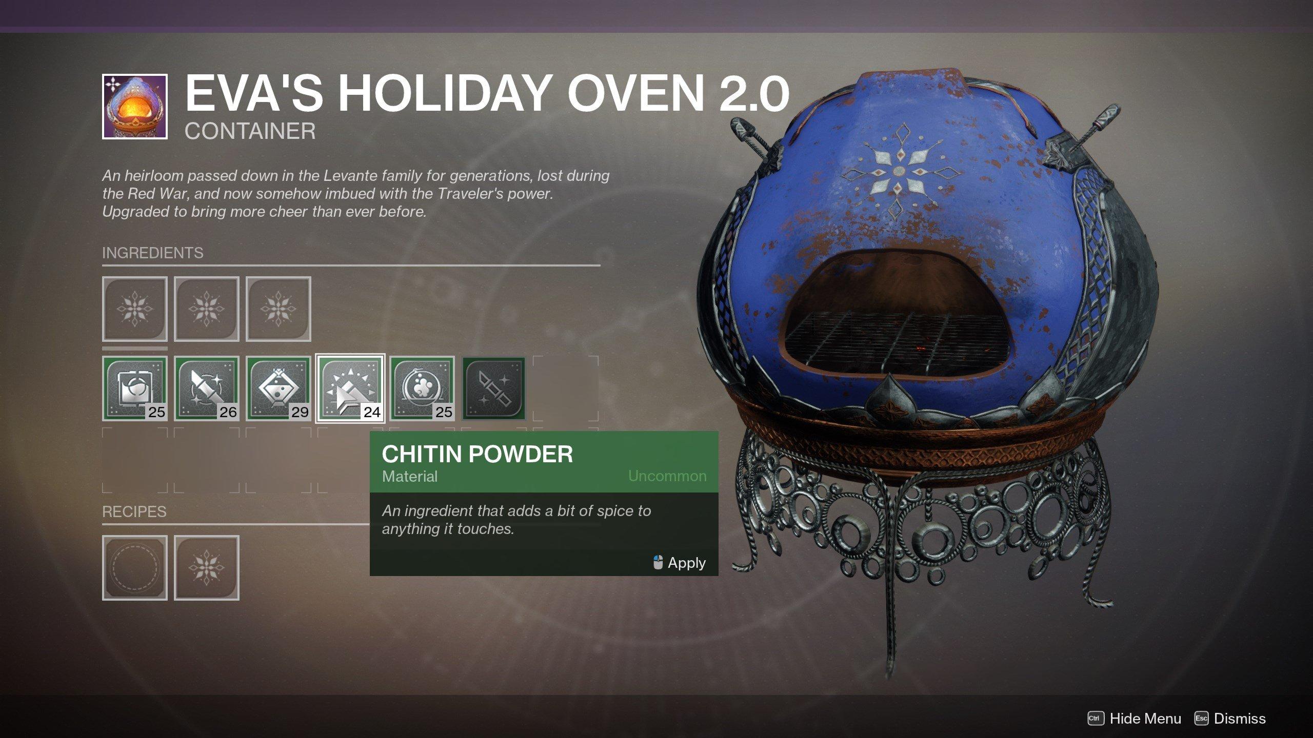 How to get Chitin Powder - Destiny 2