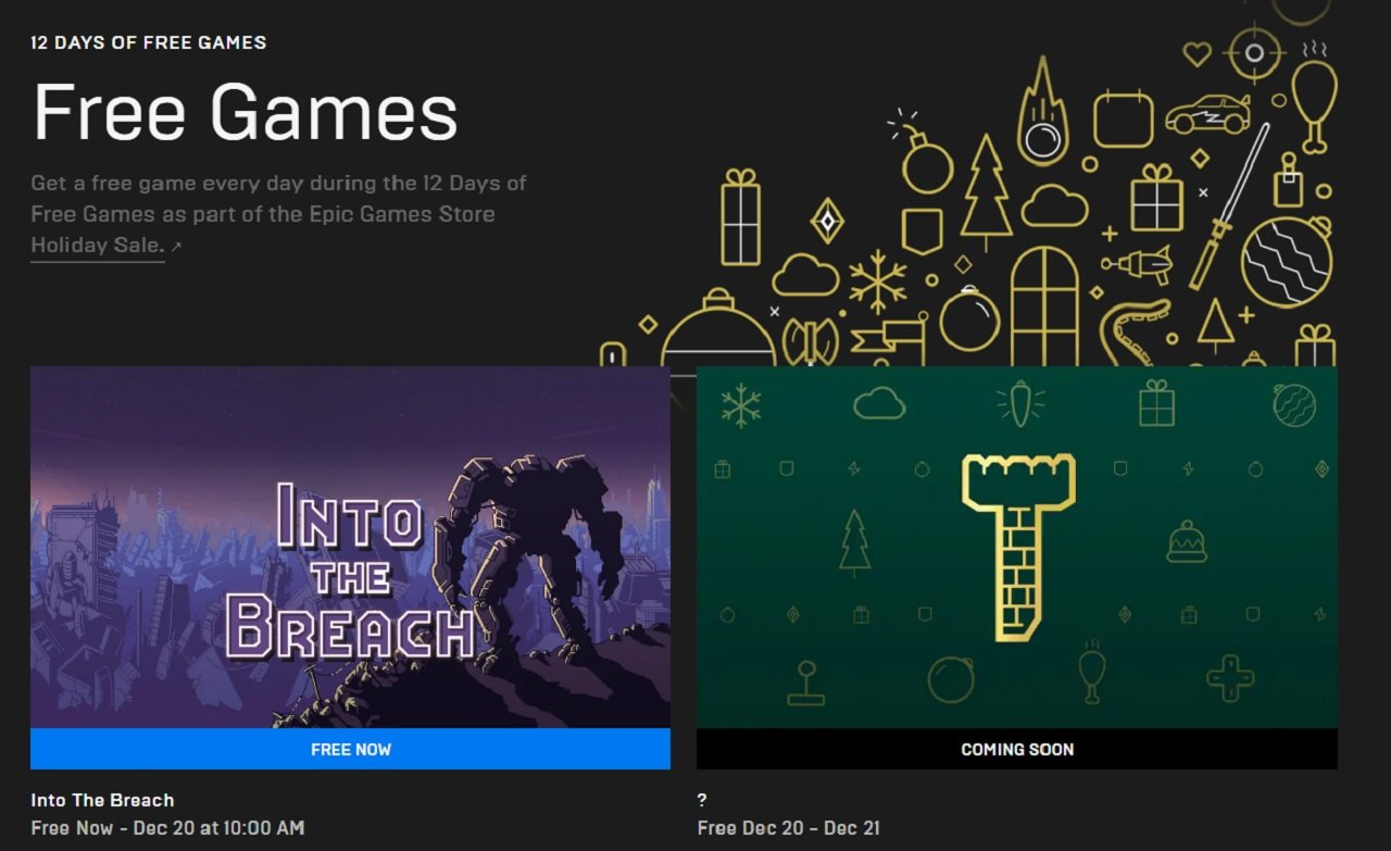 Getting your free games from the Epic Games Store Holiday Sale is very easy. Just head over to the 12 Days of Free Games page to claim Into the Breach and plenty more through the end of this year.