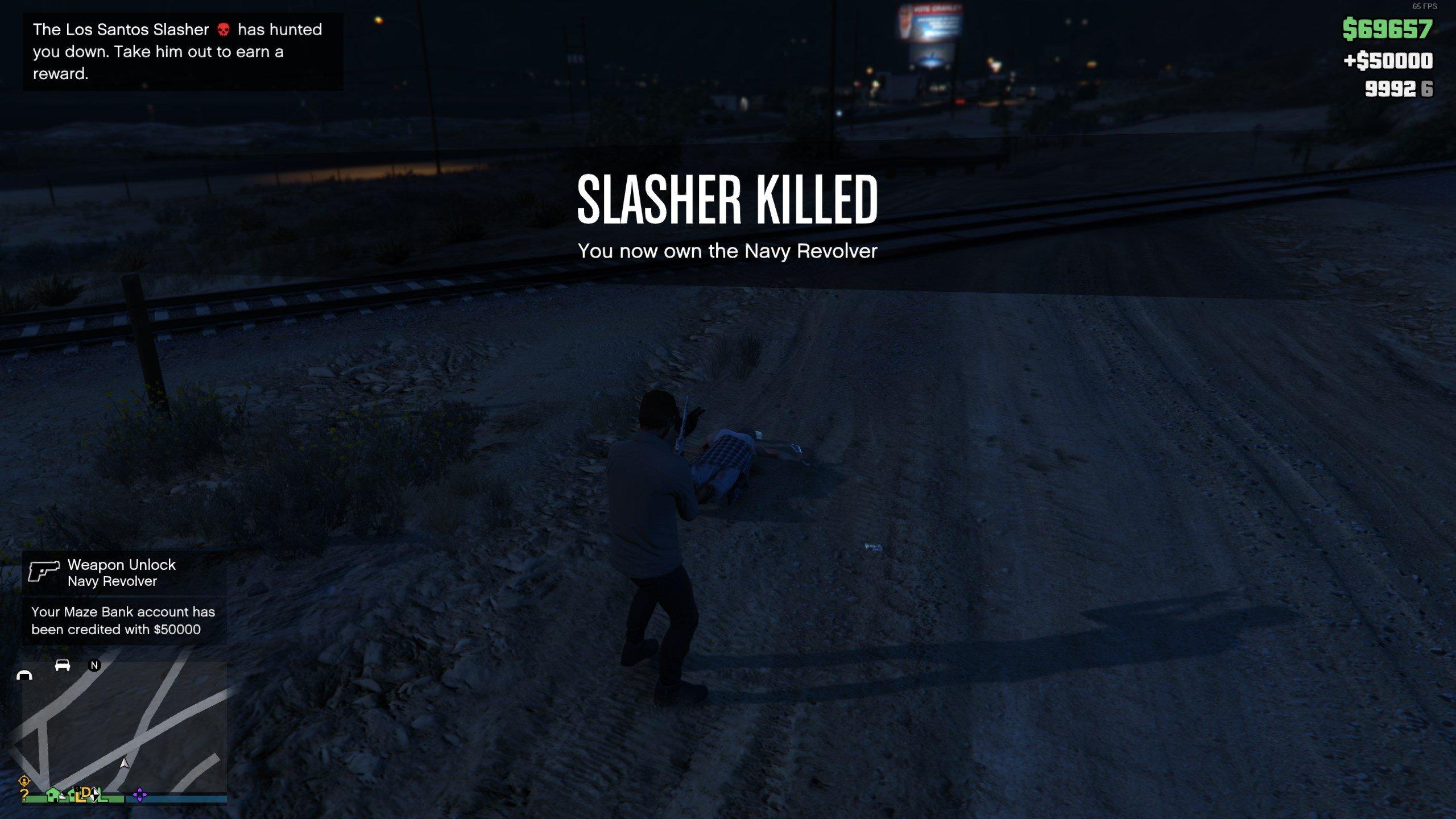 How to get Navy Revolver - kill Slasher - GTAO