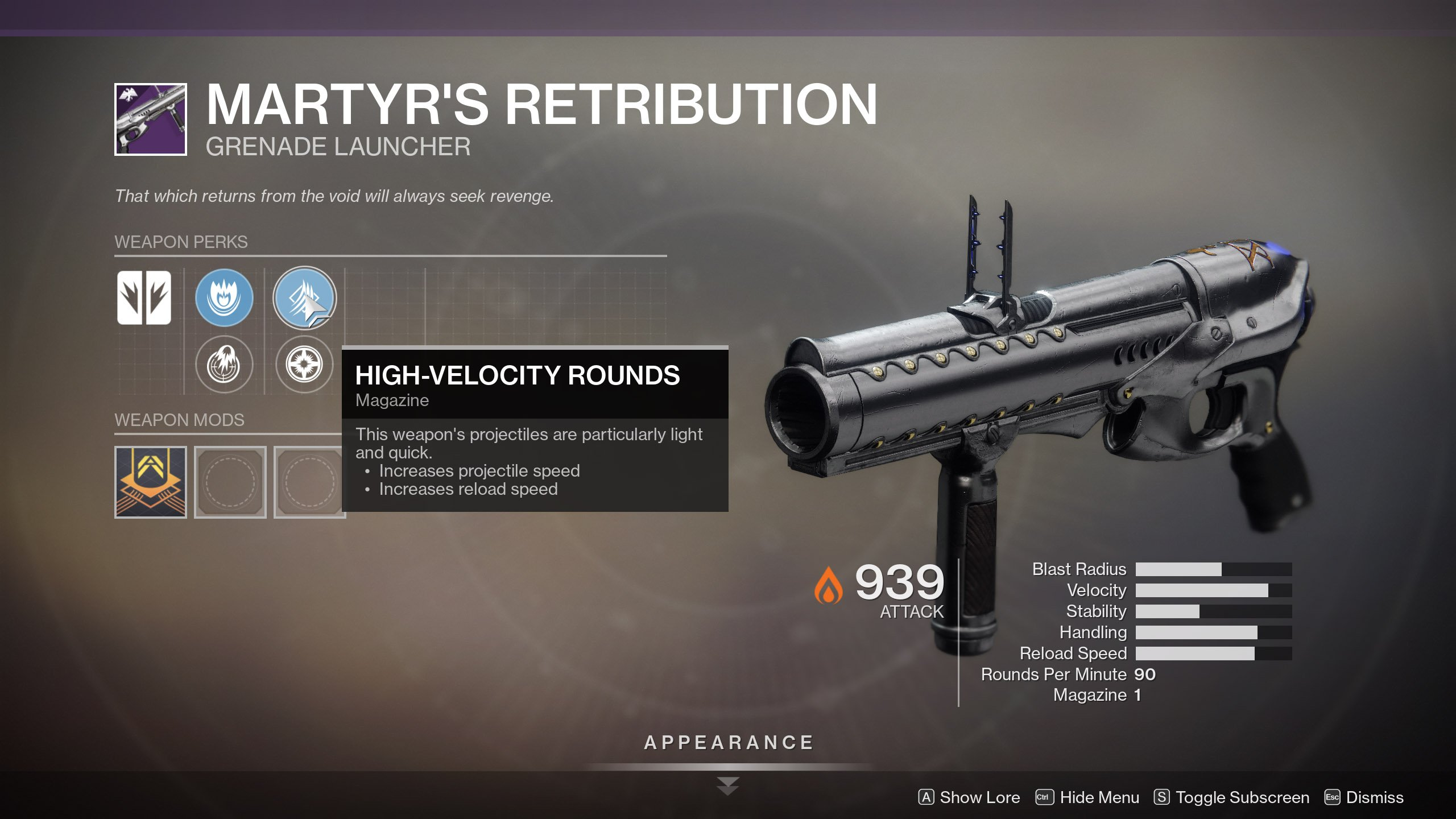 Martyr's Retribution God Roll Destiny 2