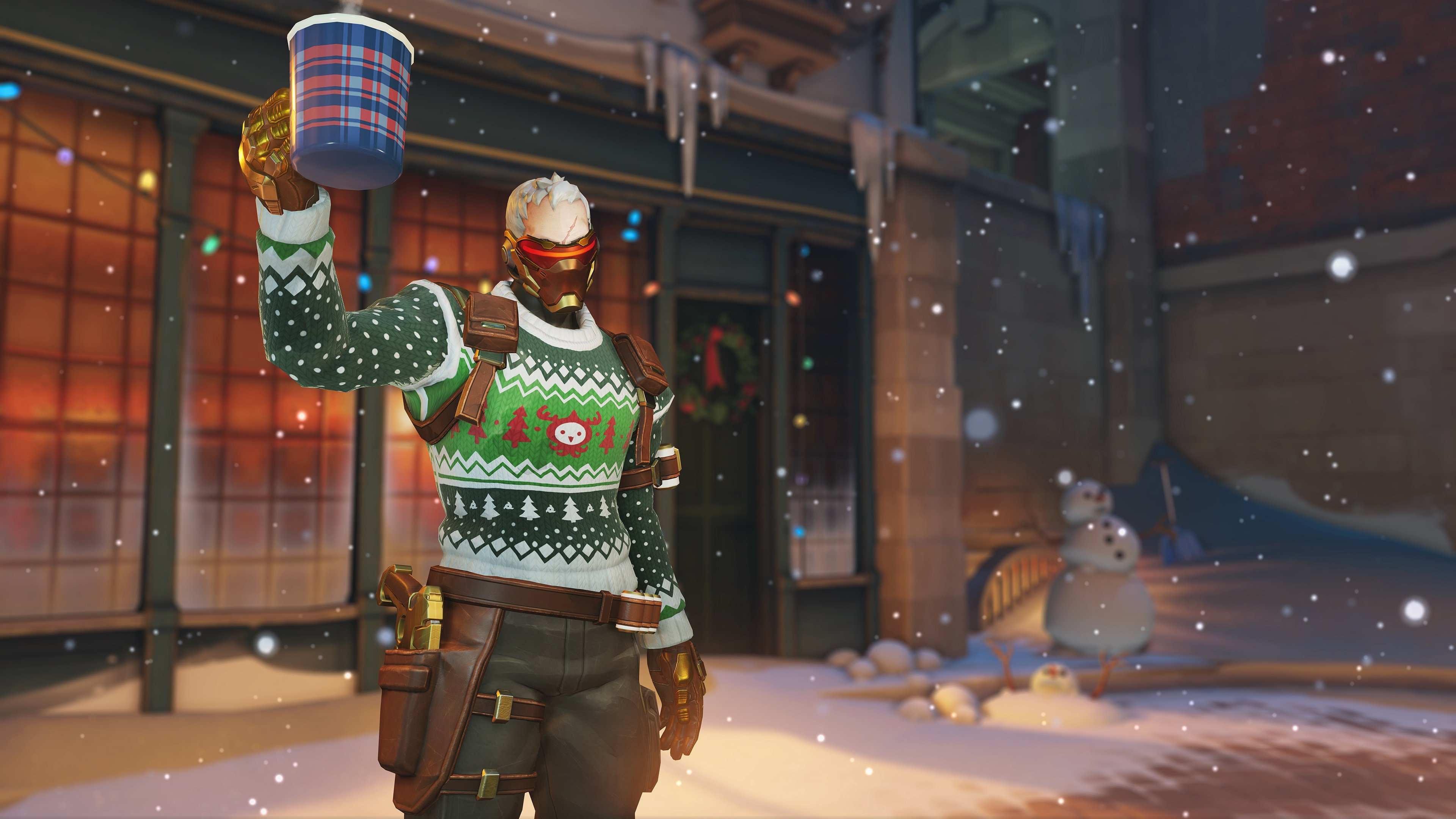 Overwatch - Ugly Sweater Soldier:76