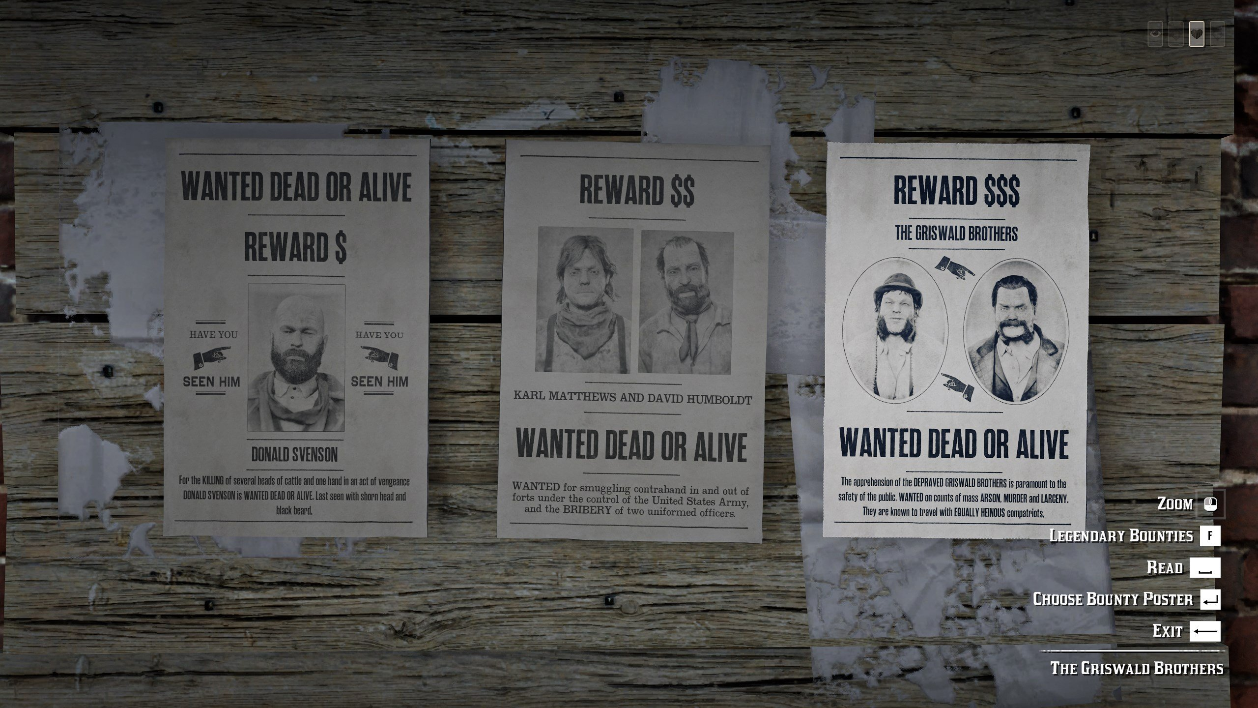 Red Dead Online - Bounty Board