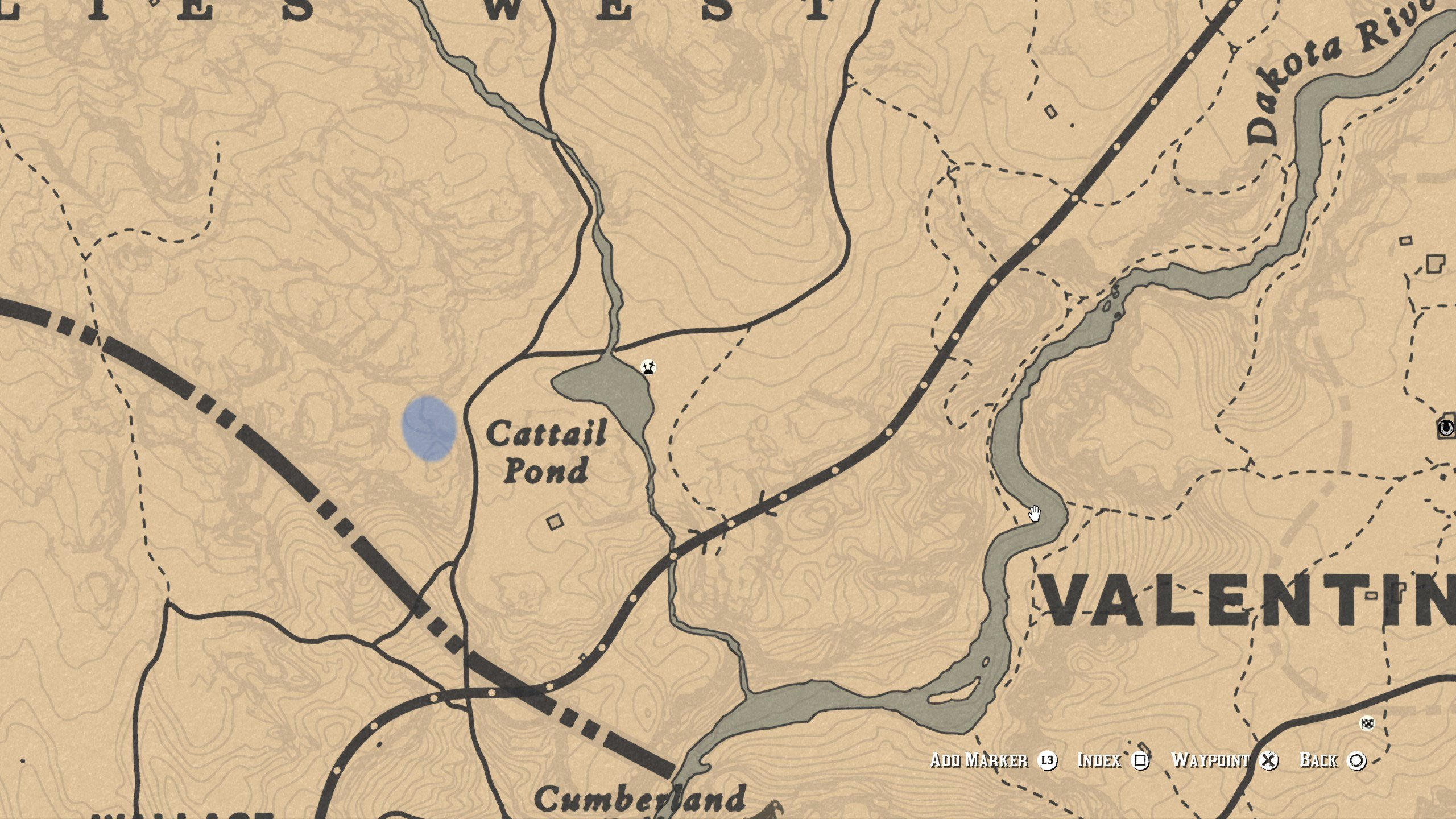 Eagle location - Cattail Pond spawn 2 - RDR2