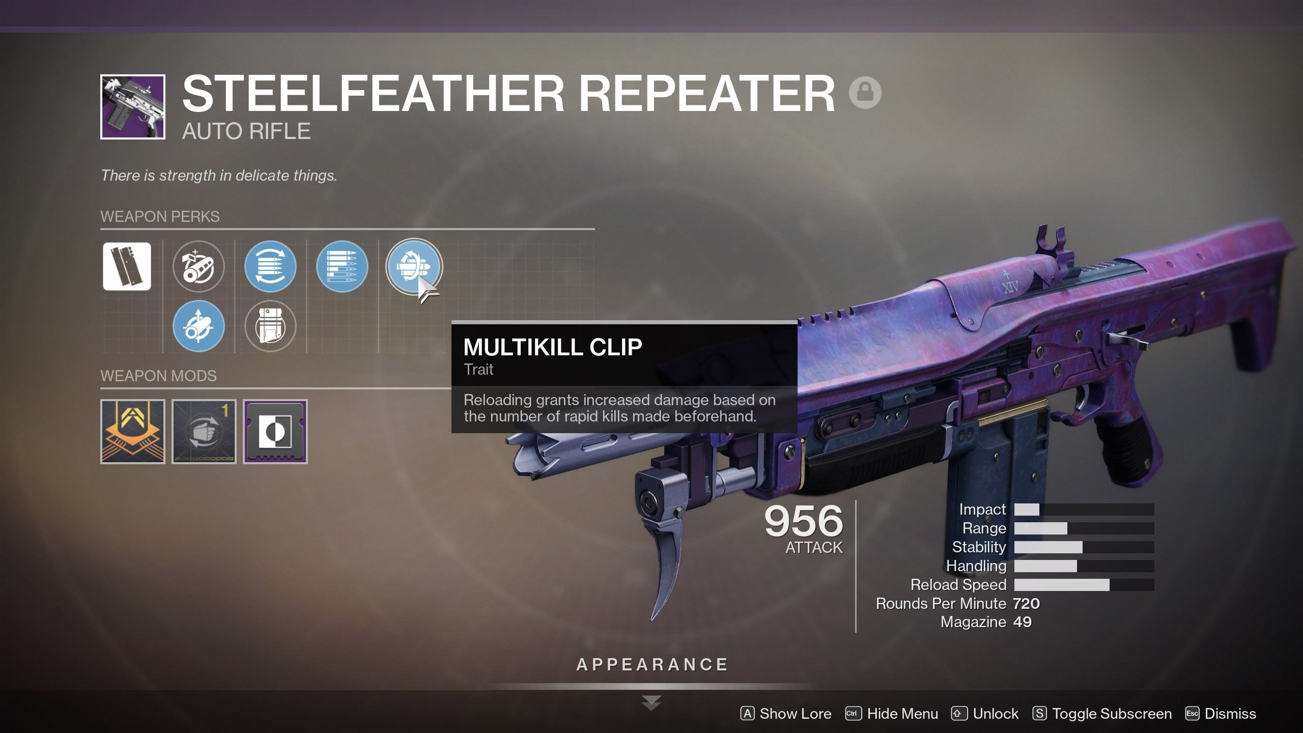 Steelfeather Repeater God Roll